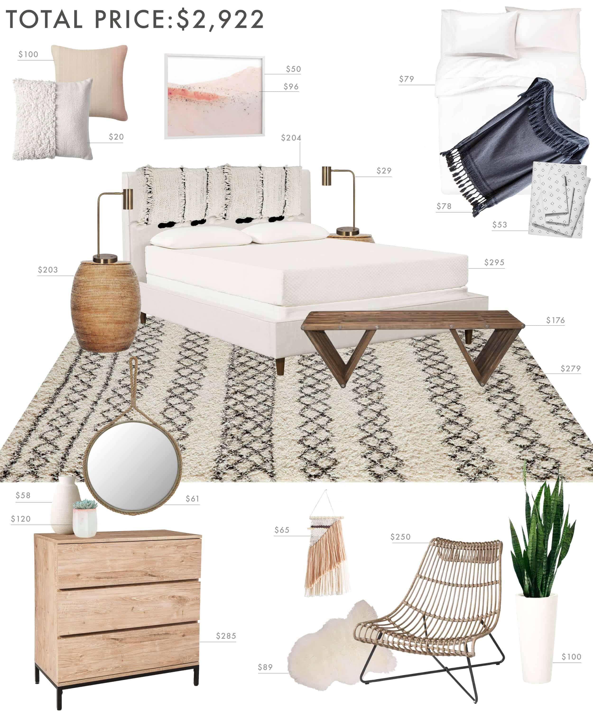 Emily Henderson Budget Room Bedroom Boho 30001
