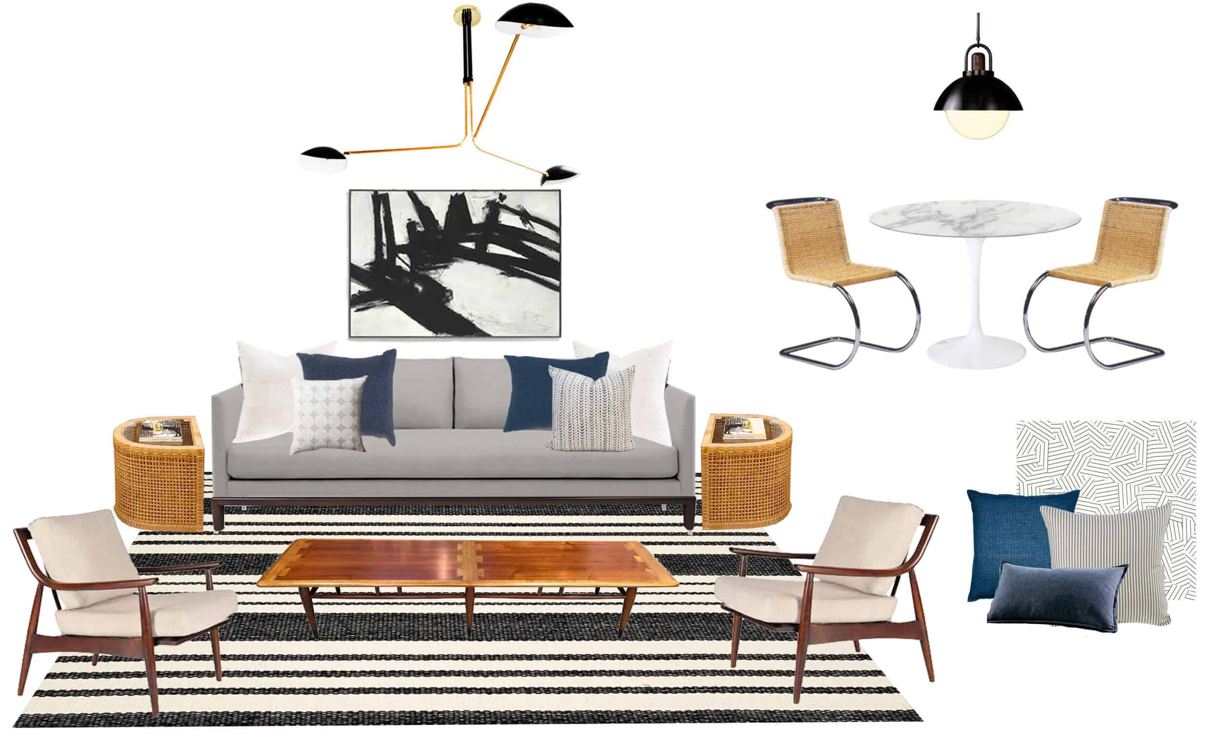 Emily Henderson Full Design Sunroom Introduction Moodboard
