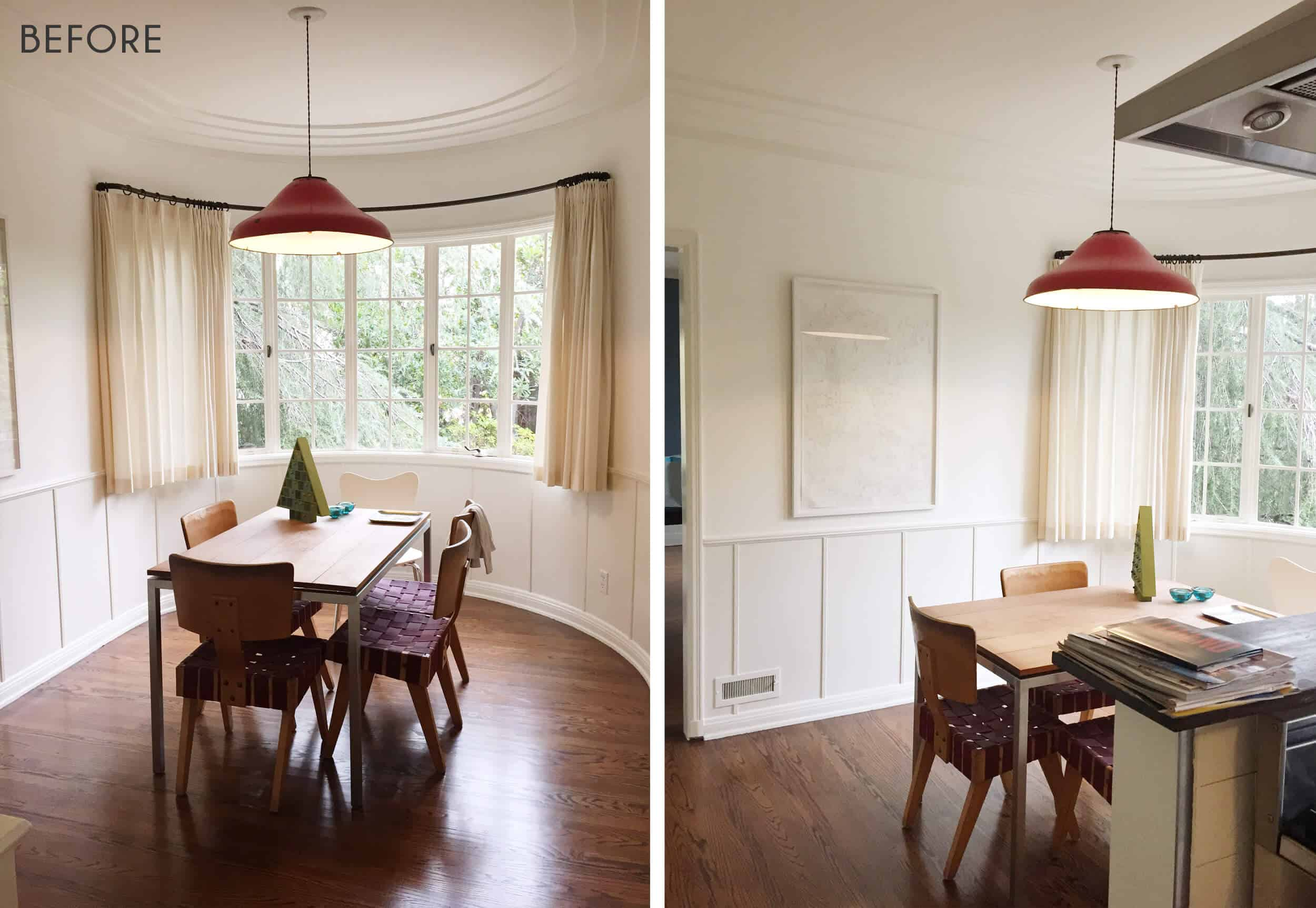 Emily Henderson Griffith Park Home Traditional Italian Mid Century Dining Nook Before