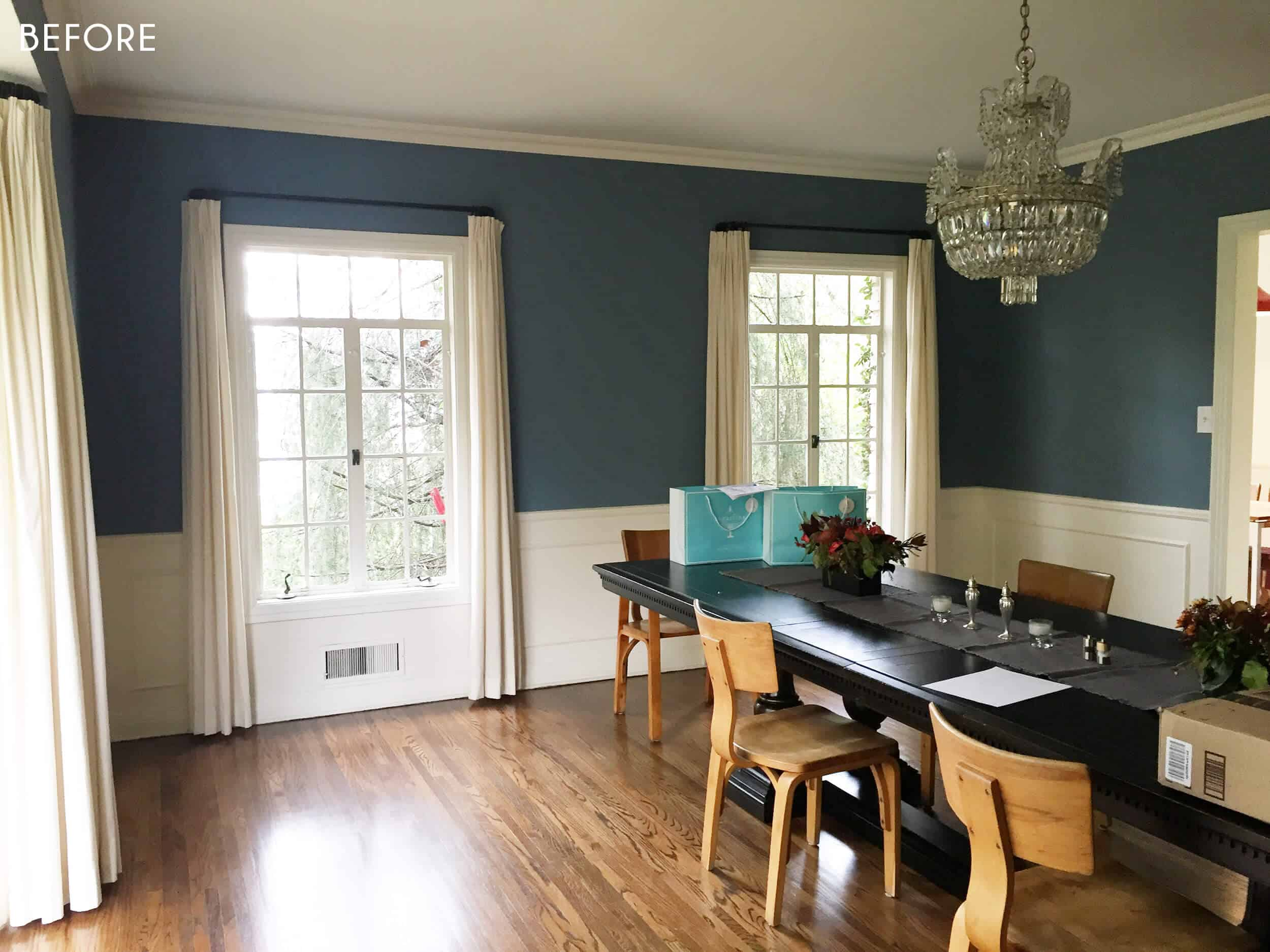 Emily Henderson Griffith Park Home Traditional Italian Mid Century Dining Room Before 3