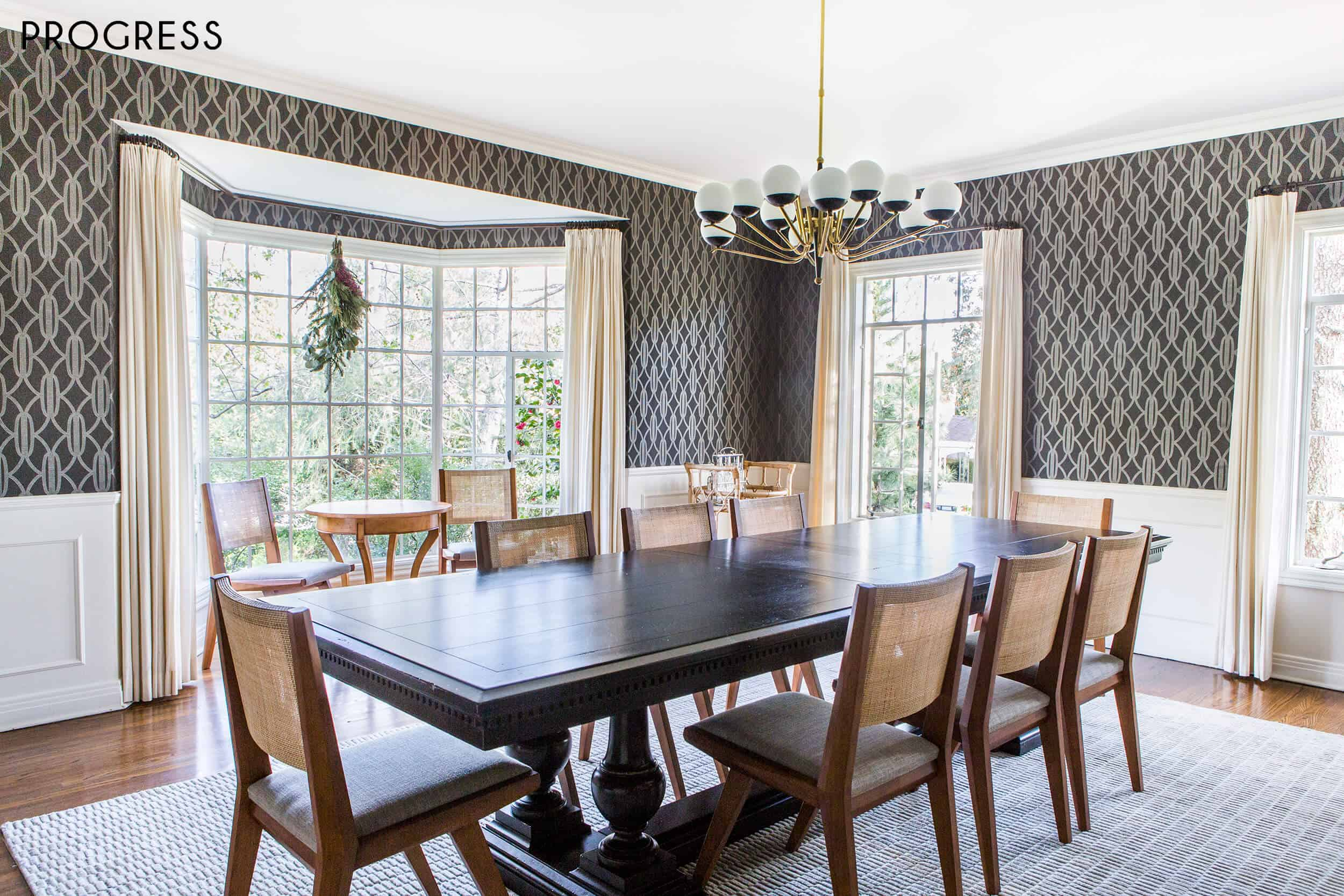 Emily Henderson Griffith Park Home Traditional Italian Mid Century Dining Room Progress 2