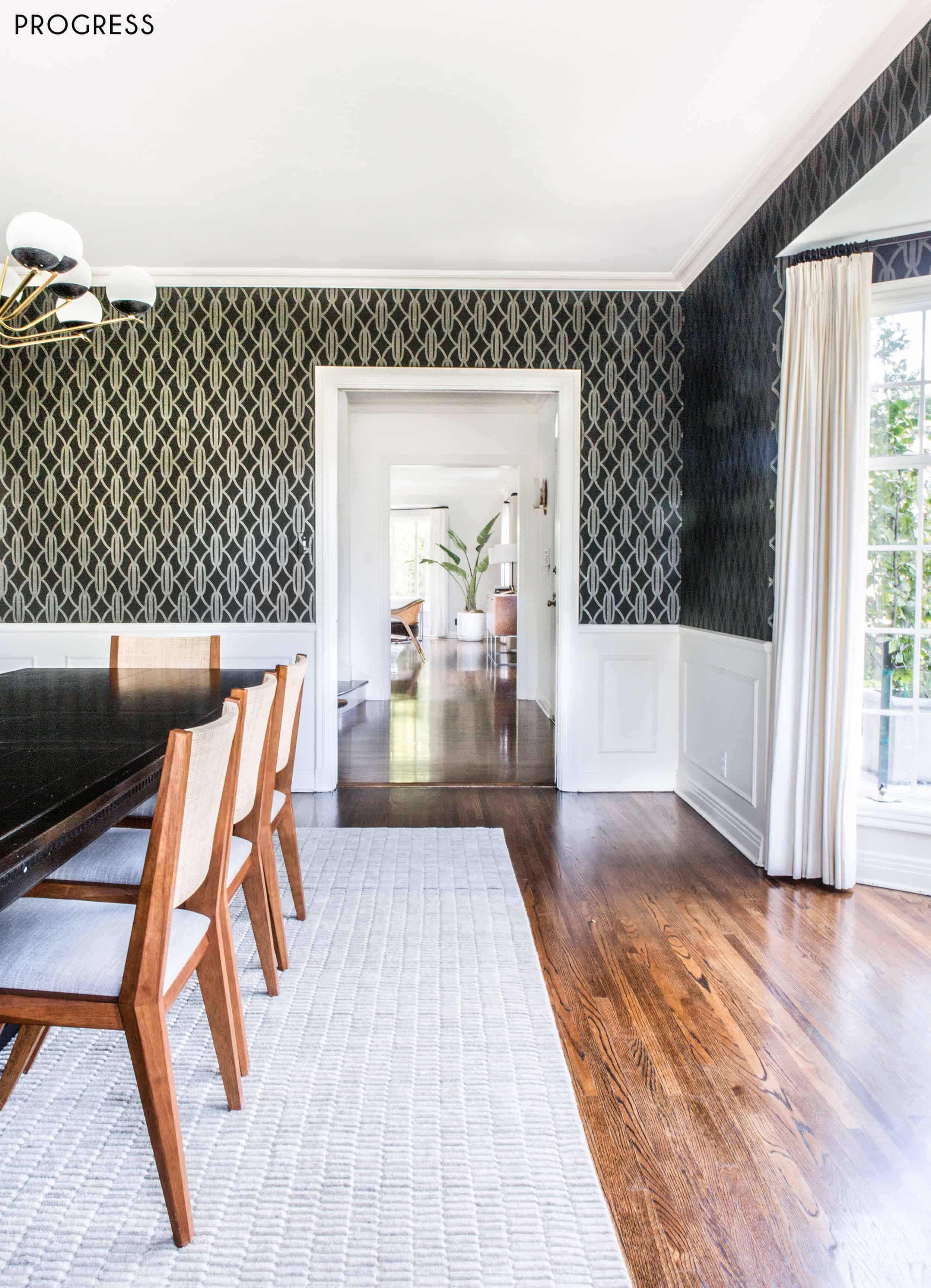 Emily Henderson Griffith Park Home Traditional Italian Mid Century Dining Room Progress 3