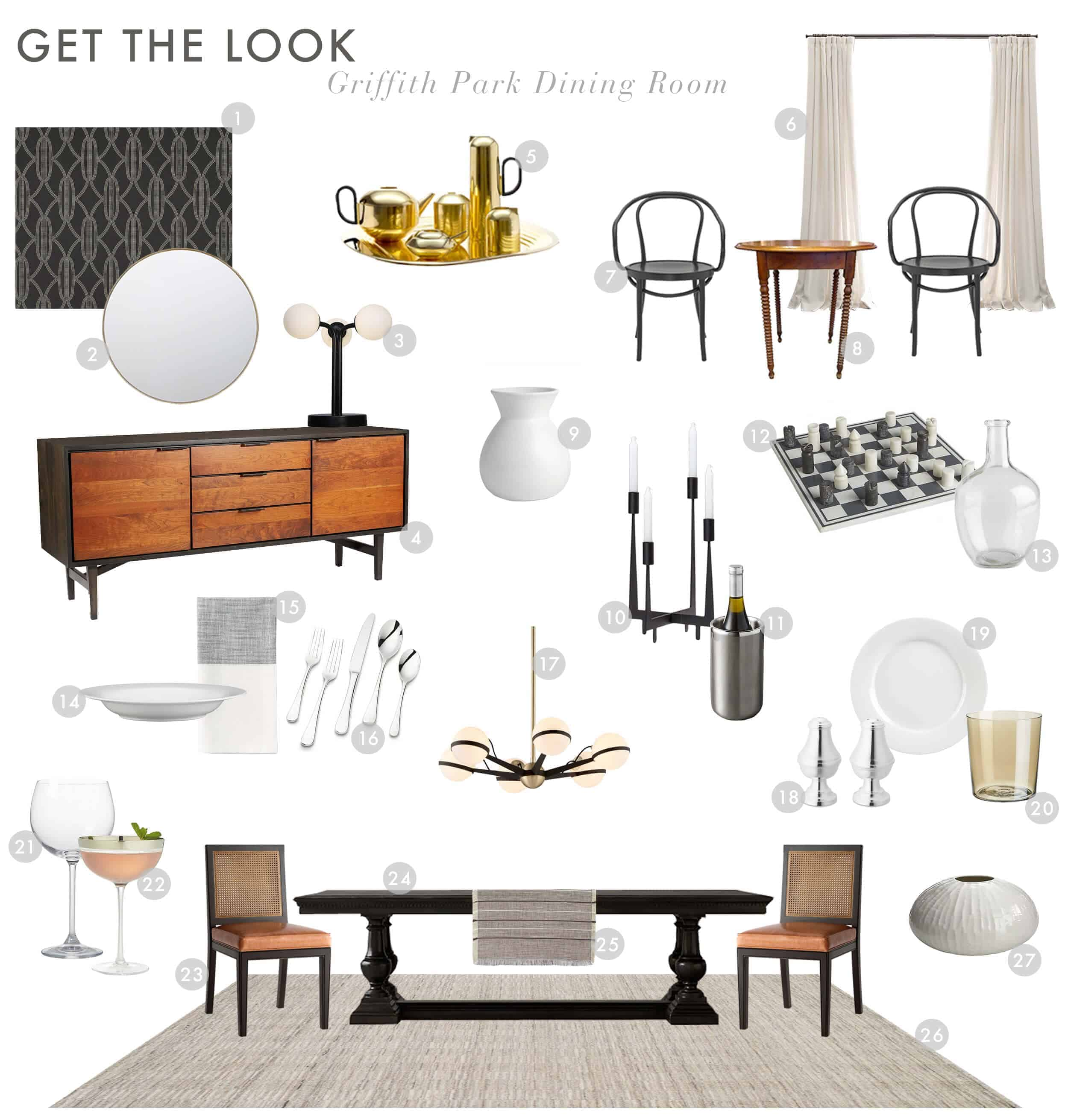 Emily Henderson Griffith Park House Dan And Kim Italian Modern Reveal Dining Room Get The Look Final