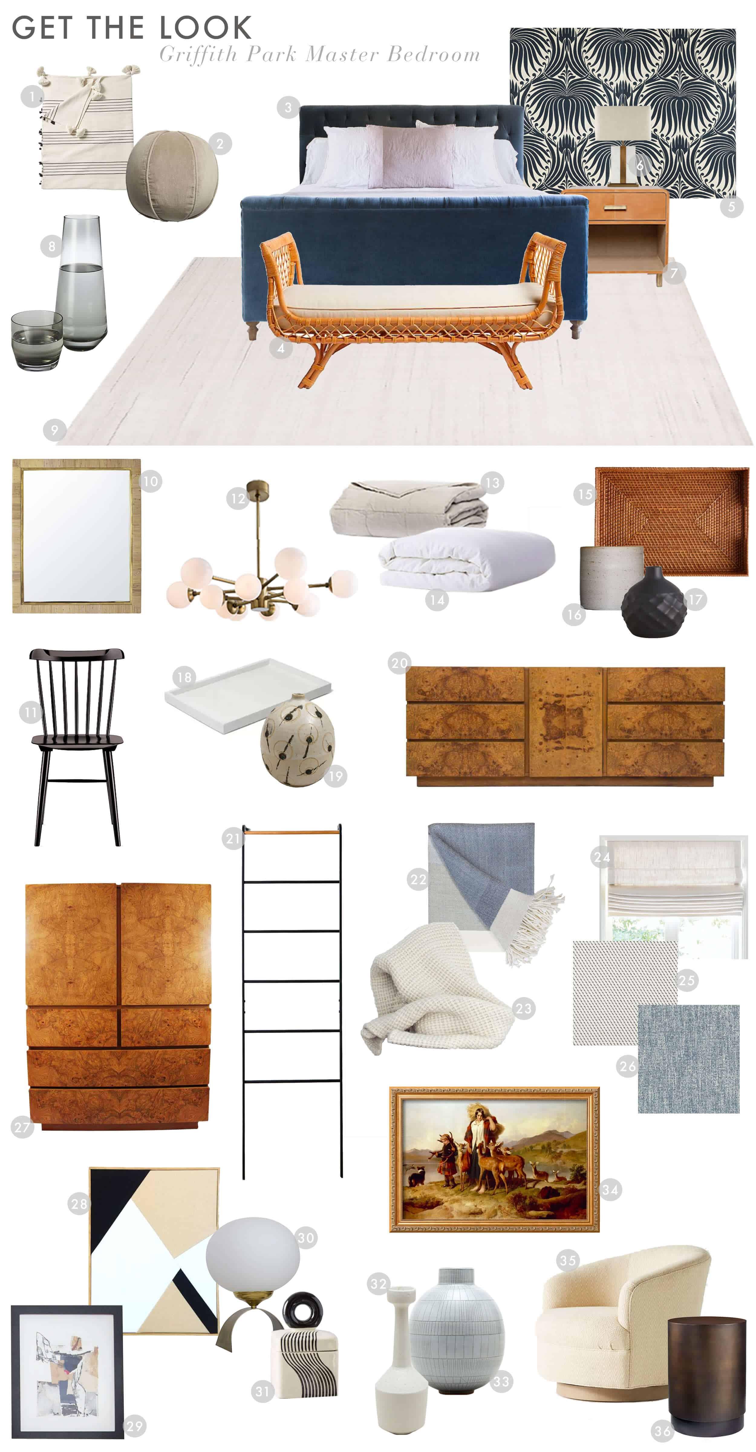 Emily Henderson Griffith Park House Dankim Italian Modern Master Bedroom Reveal Get The Look