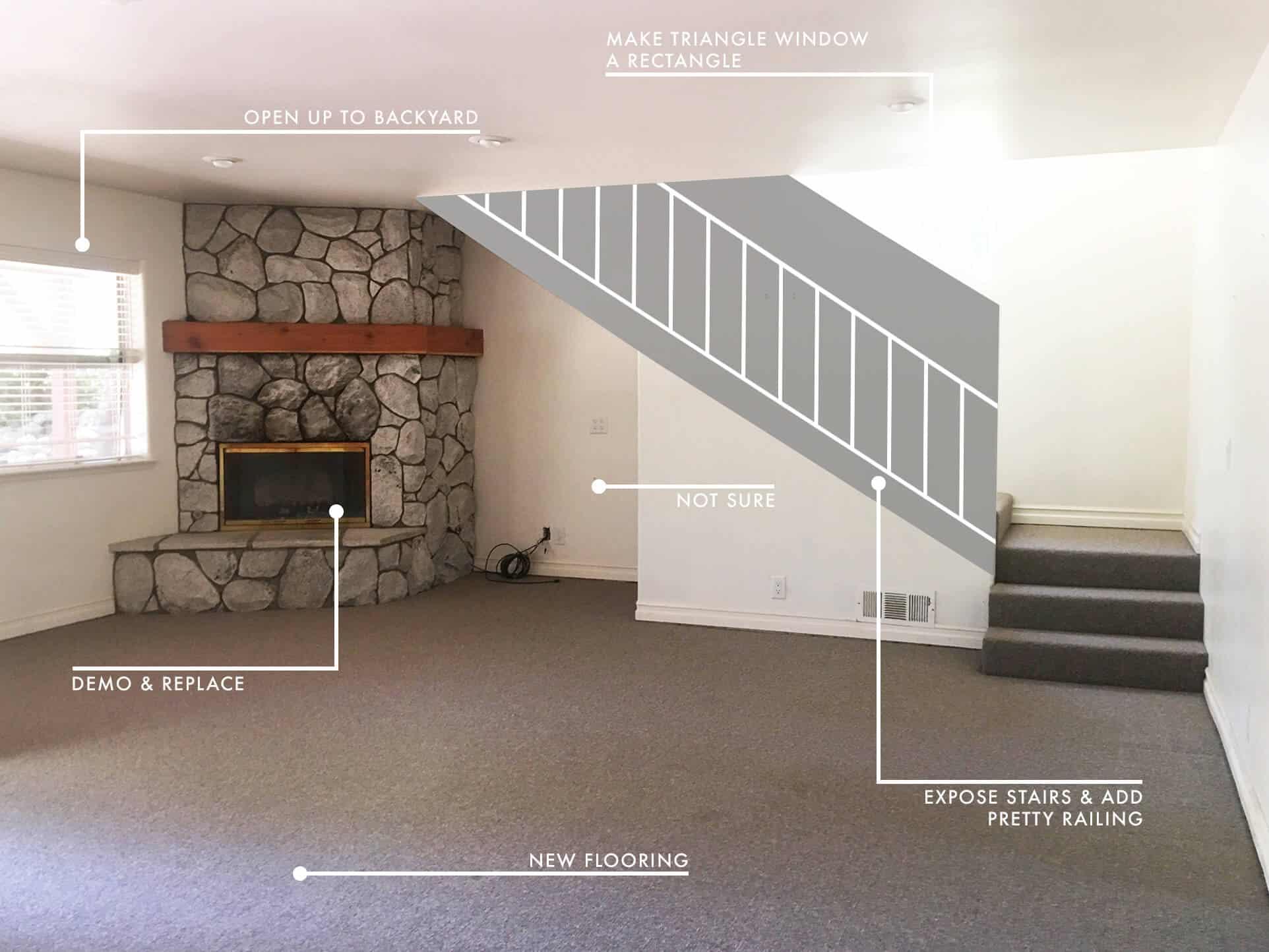 Emily Henderson Lake House Before Family Room 1 New 2