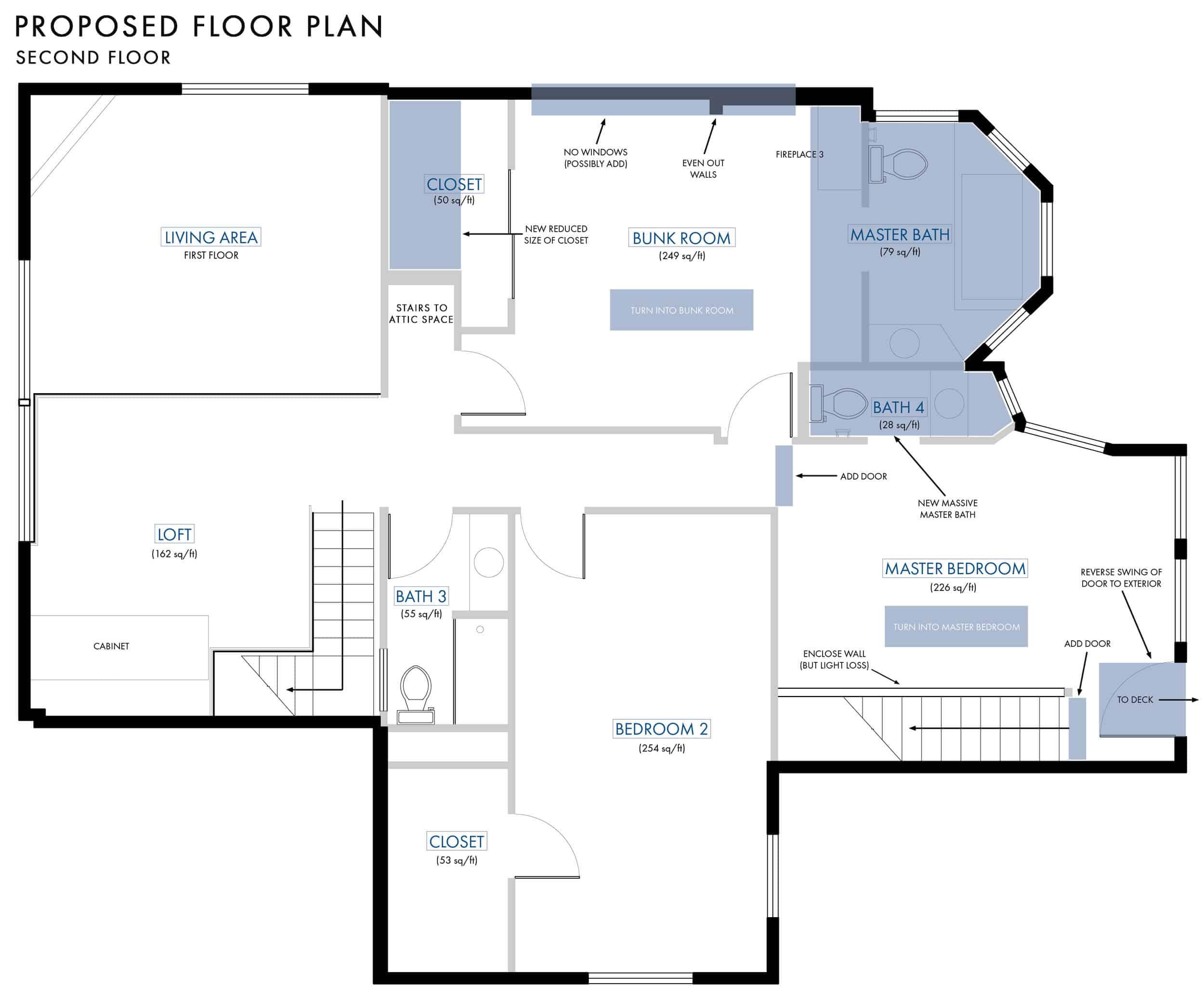 Emily Henderson Lake House Floor Plan Second Floor Entire Floor Changes 022