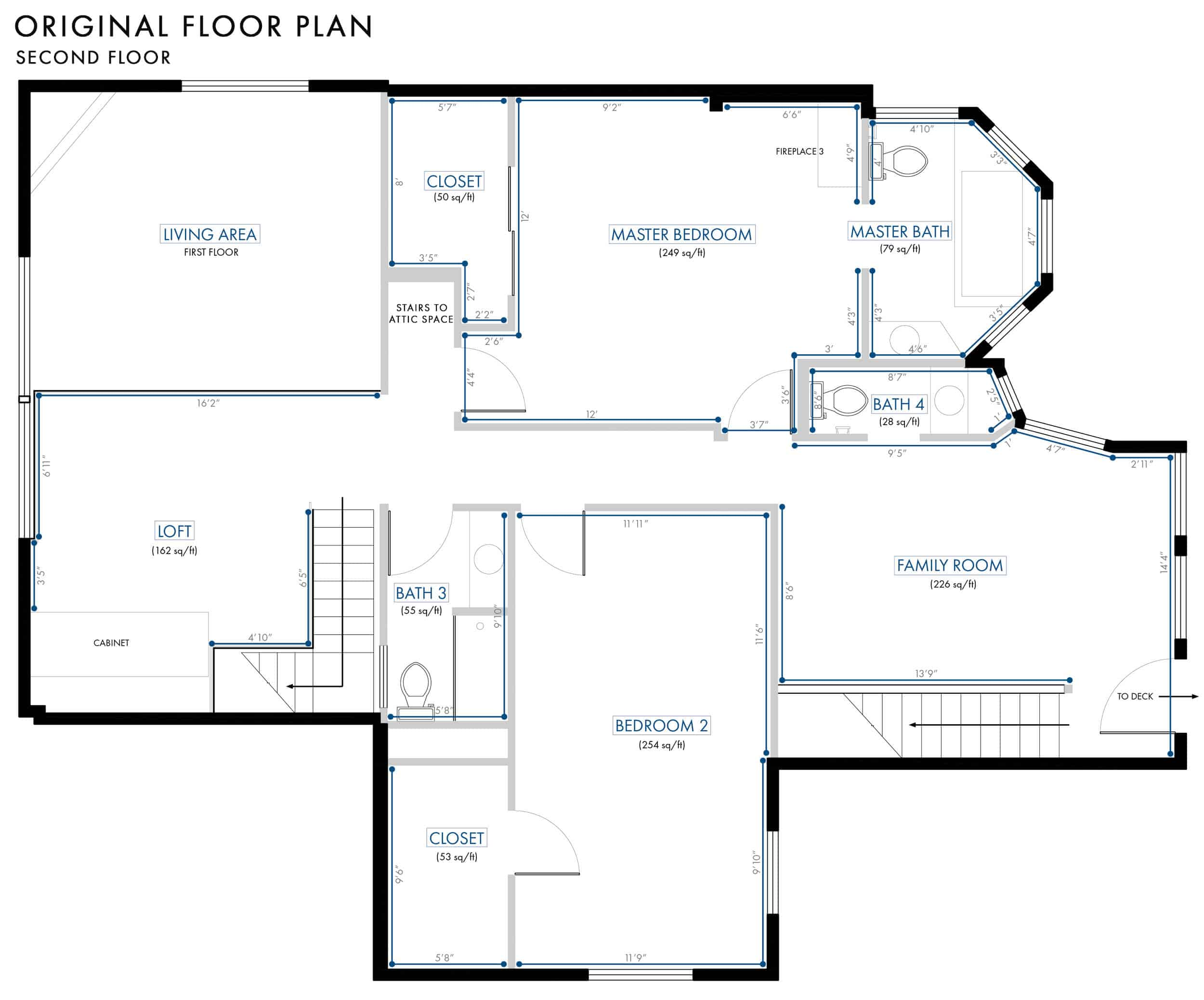 Emily Henderson Lake House Floor Plan Second Floor Entire Floor Wall Dimensions 022