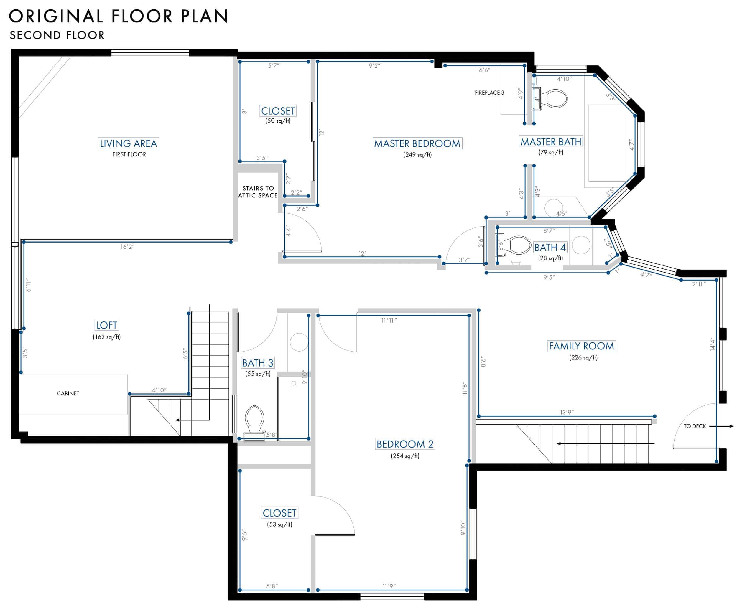 Emily Henderson Lake House Floor Plan Second Floor Entire Floor Wall Dimensions 022