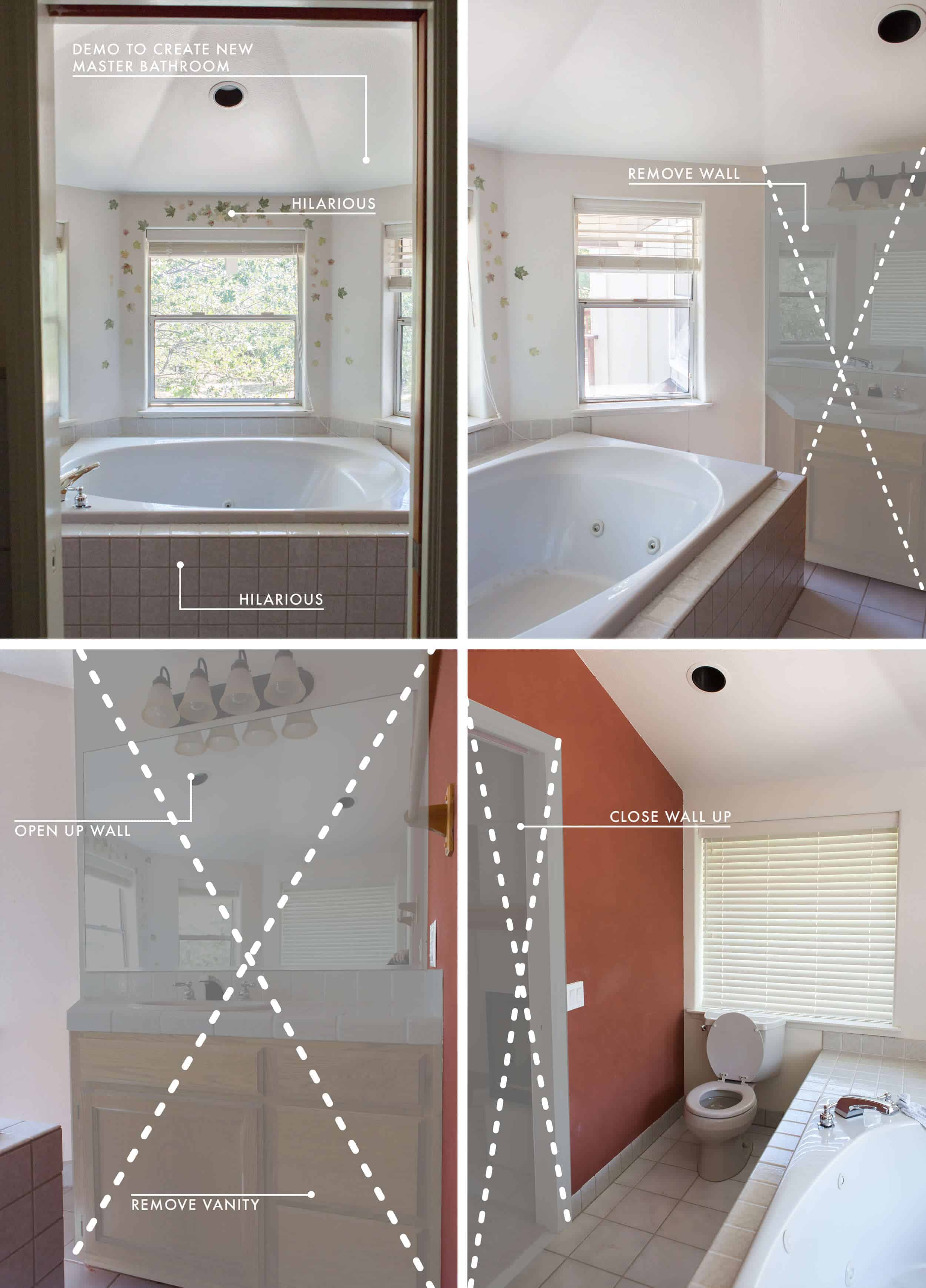Emily Henderson Lake House Intro Before Plans Grid Master Bathroom New 2