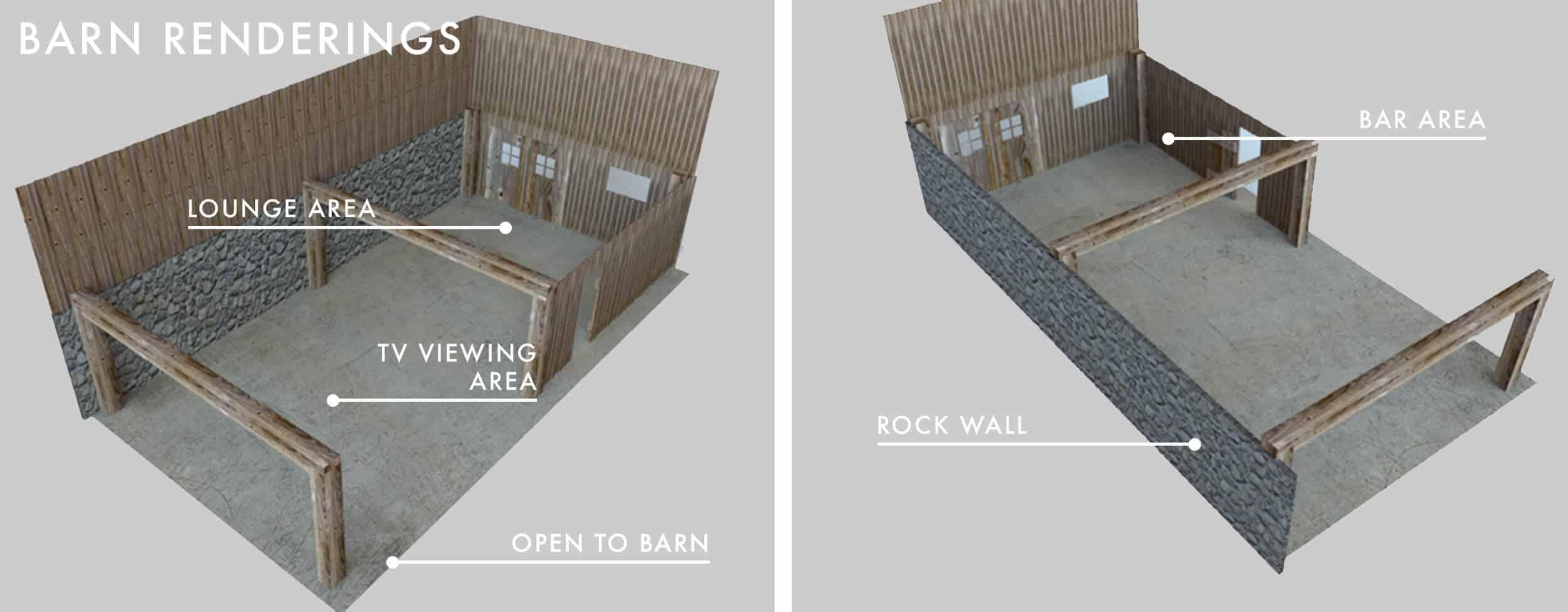 Emily Henderson Makeover Rustic Barn Soho House Lounge Bar The Frame Samsung Barn 3d Renderings
