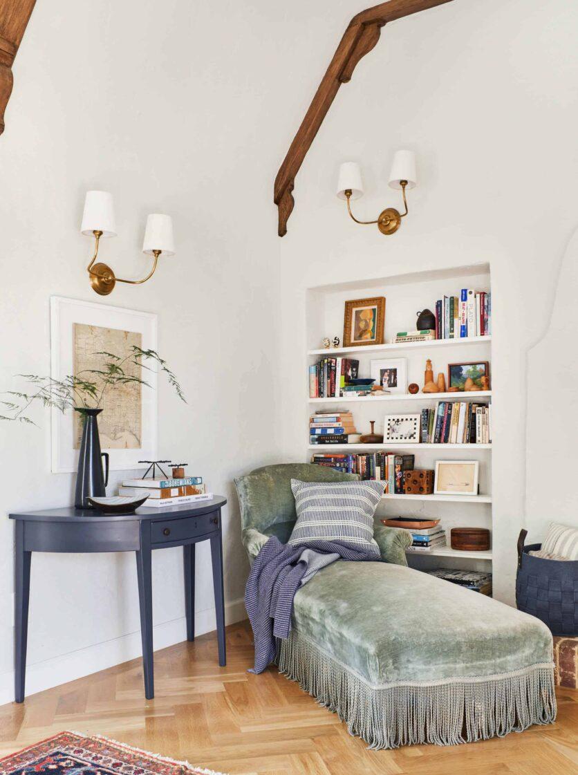 Emily Henderson Modern English Cottage Tudor Living Room Reveal6