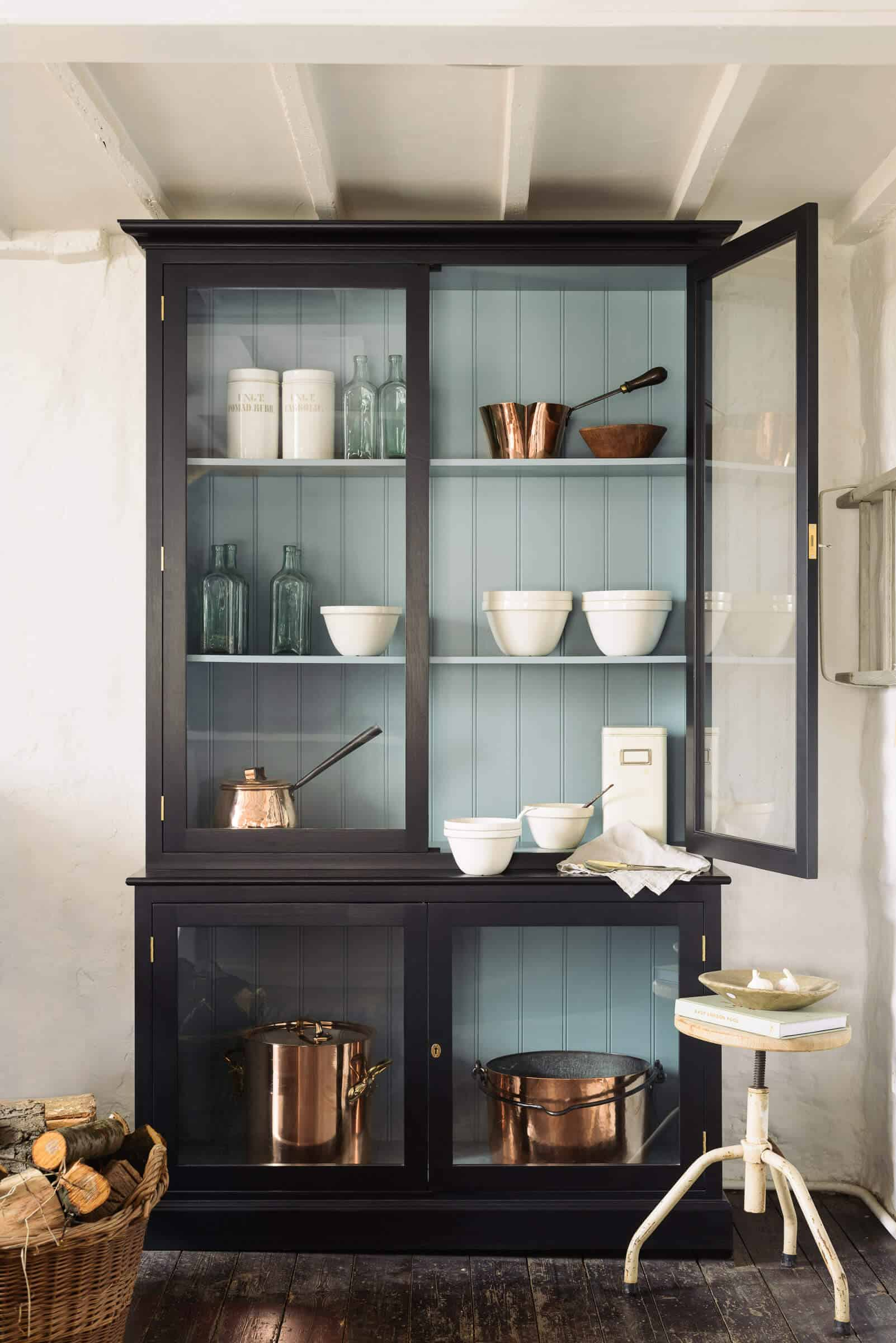 Emily Henderson Roundup Hutch Curio Cabinet Glass Cabinet Display Cabinet Storage 2