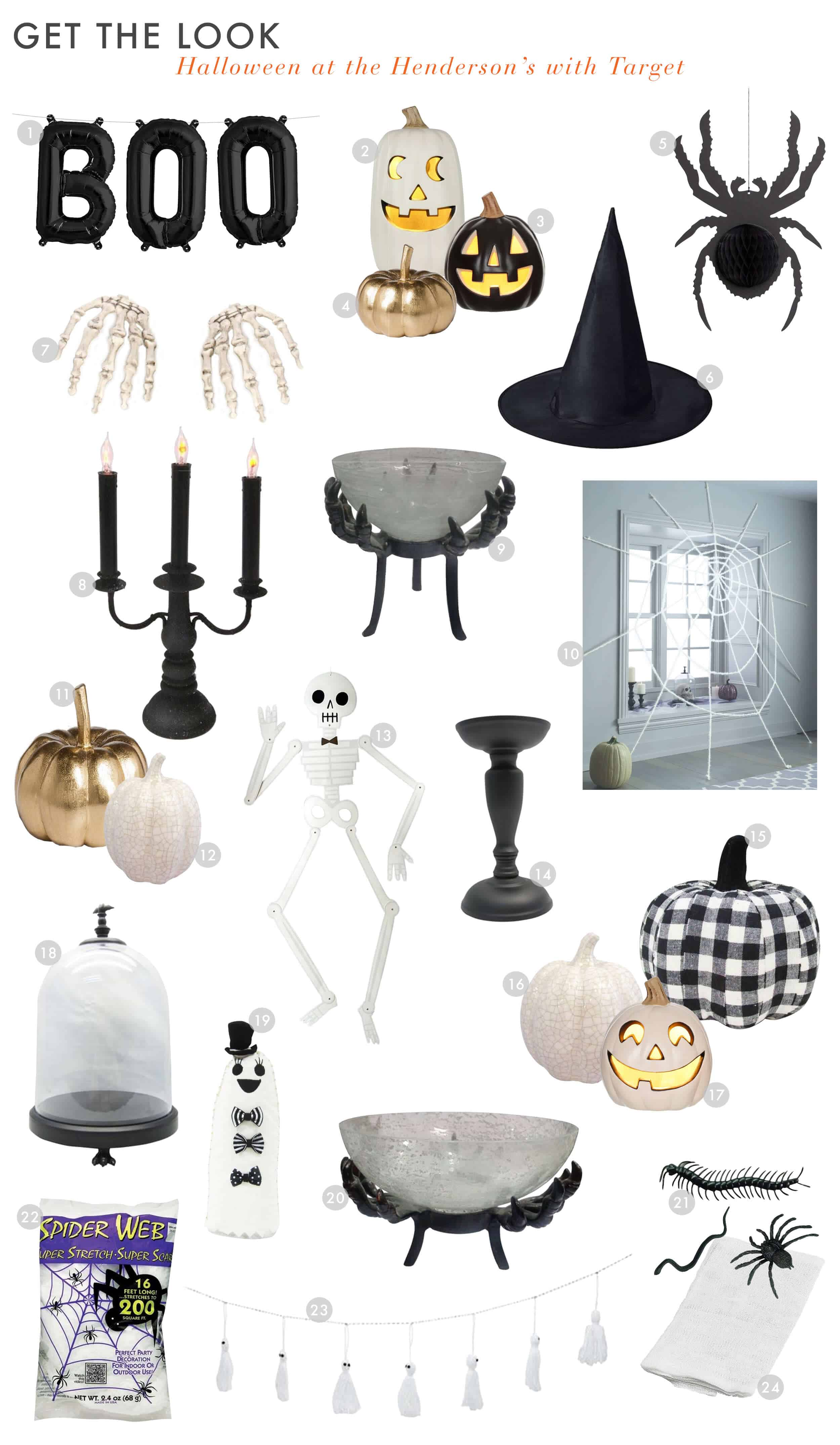 Emily Henderson Target Halloween 2017 Spooky Black And White Kid Friendly Indoors Get The Look