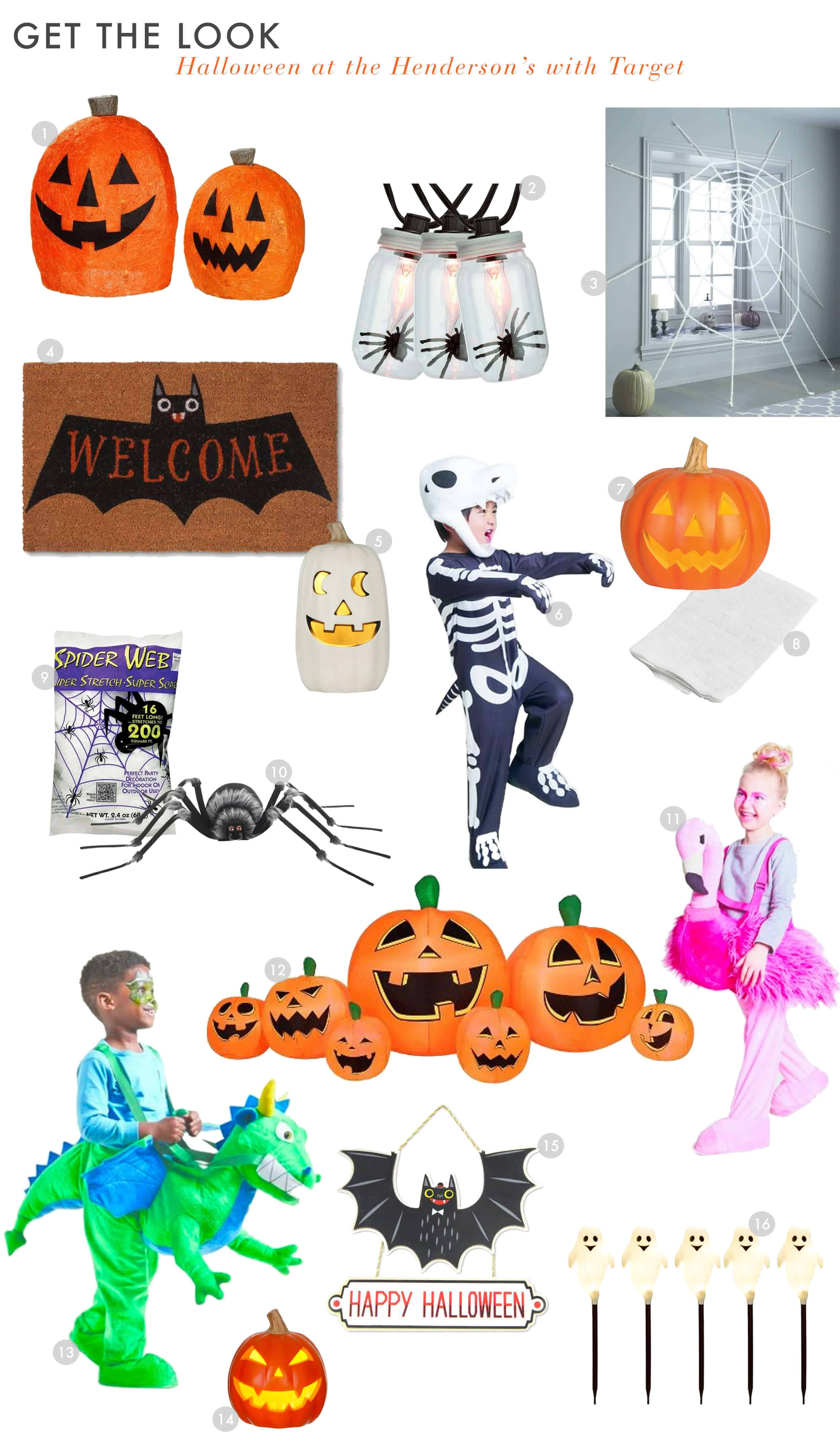 Emily Henderson Target Halloween 2017 Spooky Black And White Kid Friendly Outdoors Get The Look Final