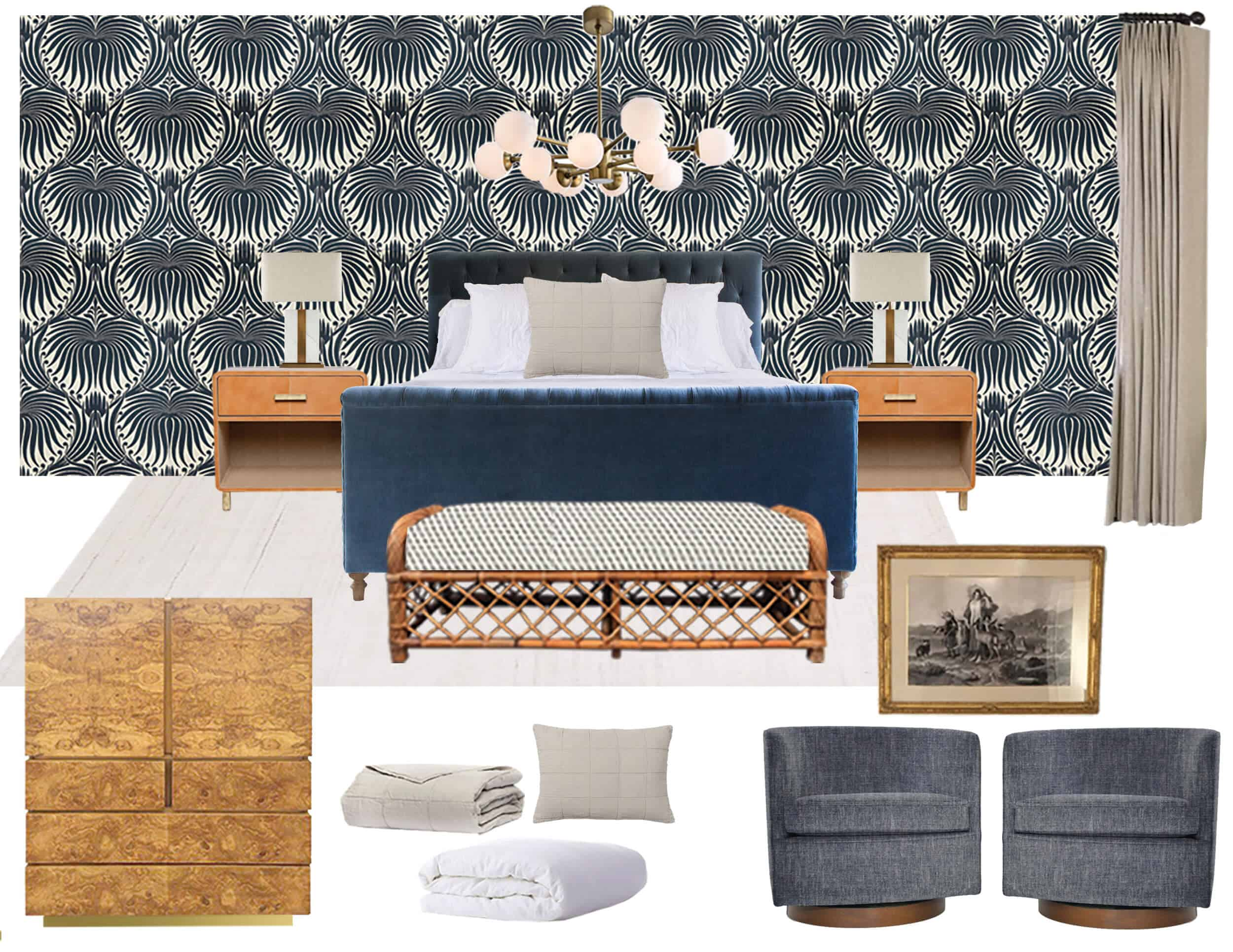Emily Henderson Griffith Park Bedroom Mood Board