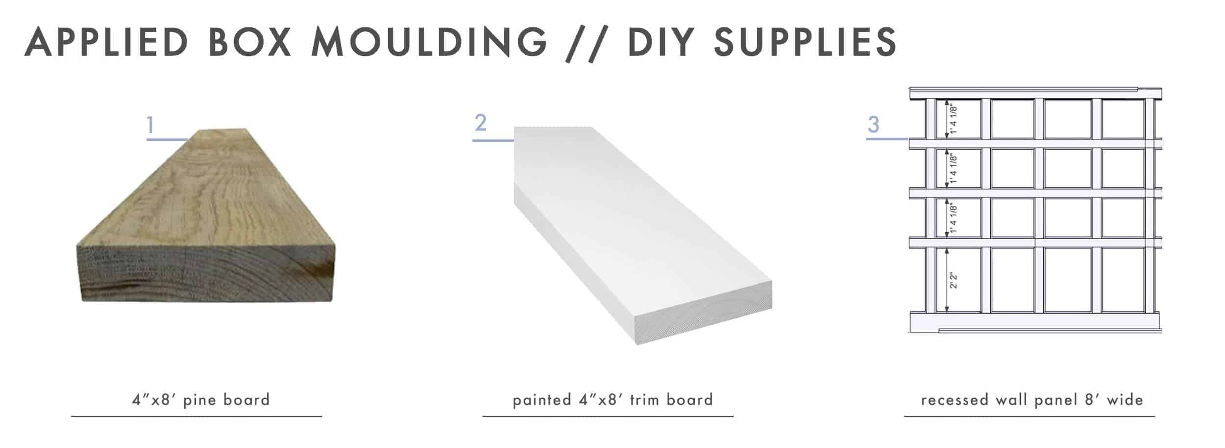 How To Add Character And Charm To Boring Architecture And Houses Applied Box Moulding Diy Supplies 01