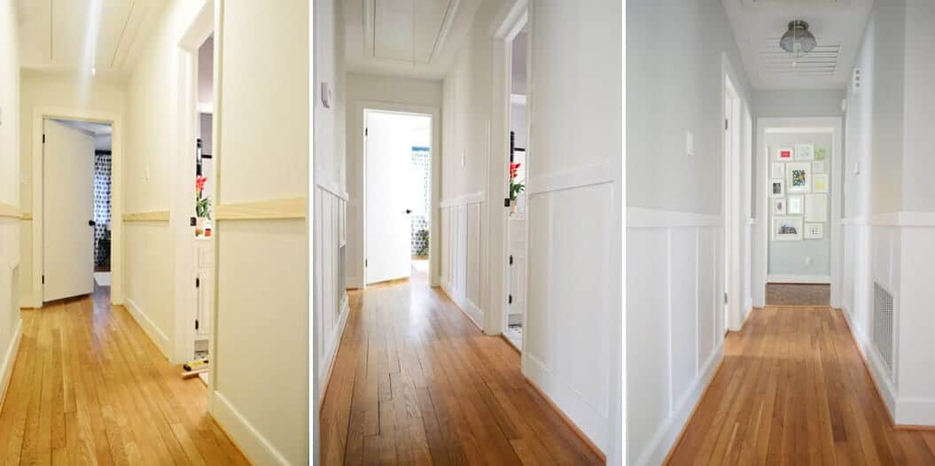 How To Add Character And Charm To Boring Architecture And Houses Half Wall Paneling Board And Batten Diy