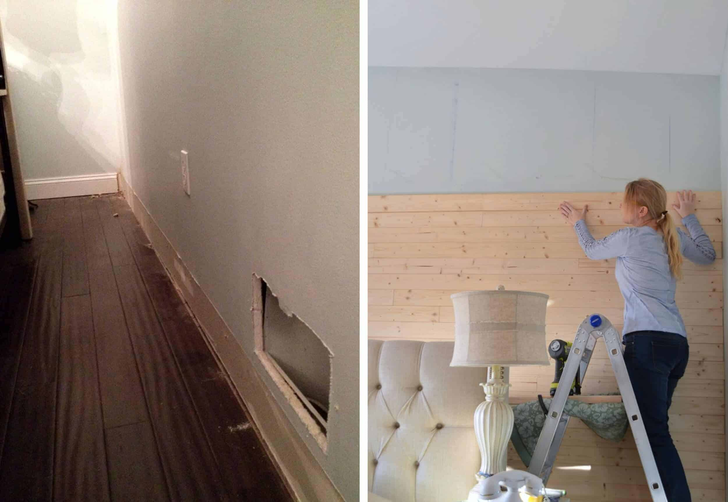 How To Add Character And Charm To Boring Architecture And Houses V Groove Paneling Diy