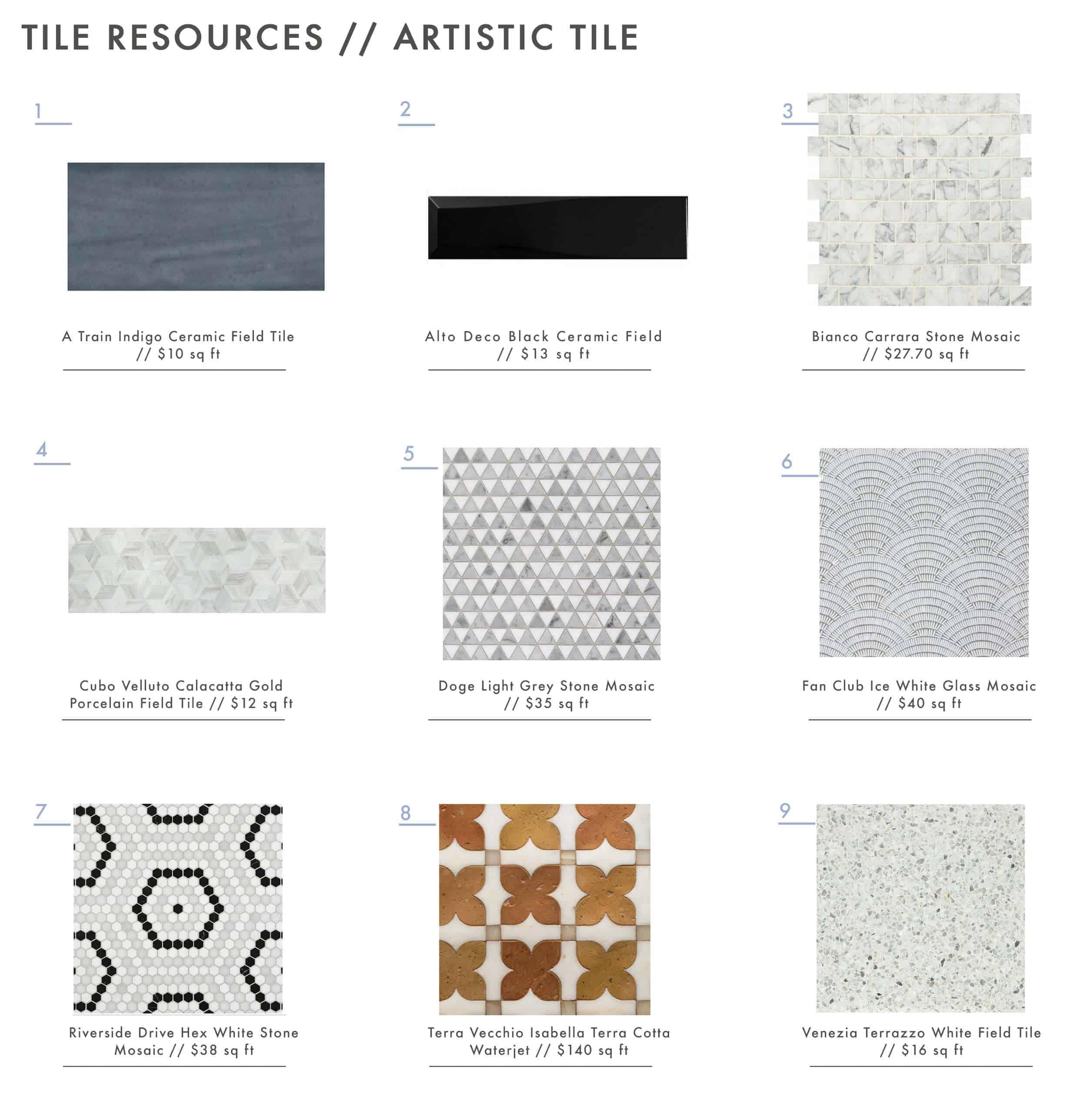 Artistic Tile Roundup