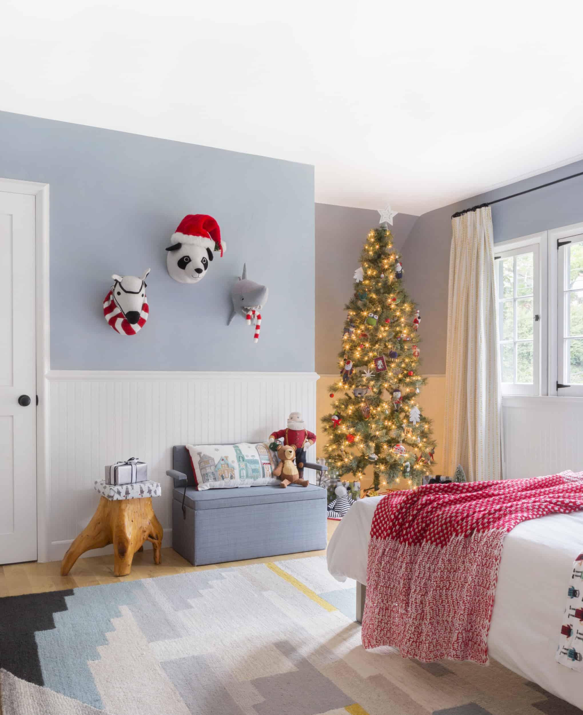 Emily Henderson Christmas Decorating Little Boys Room 110