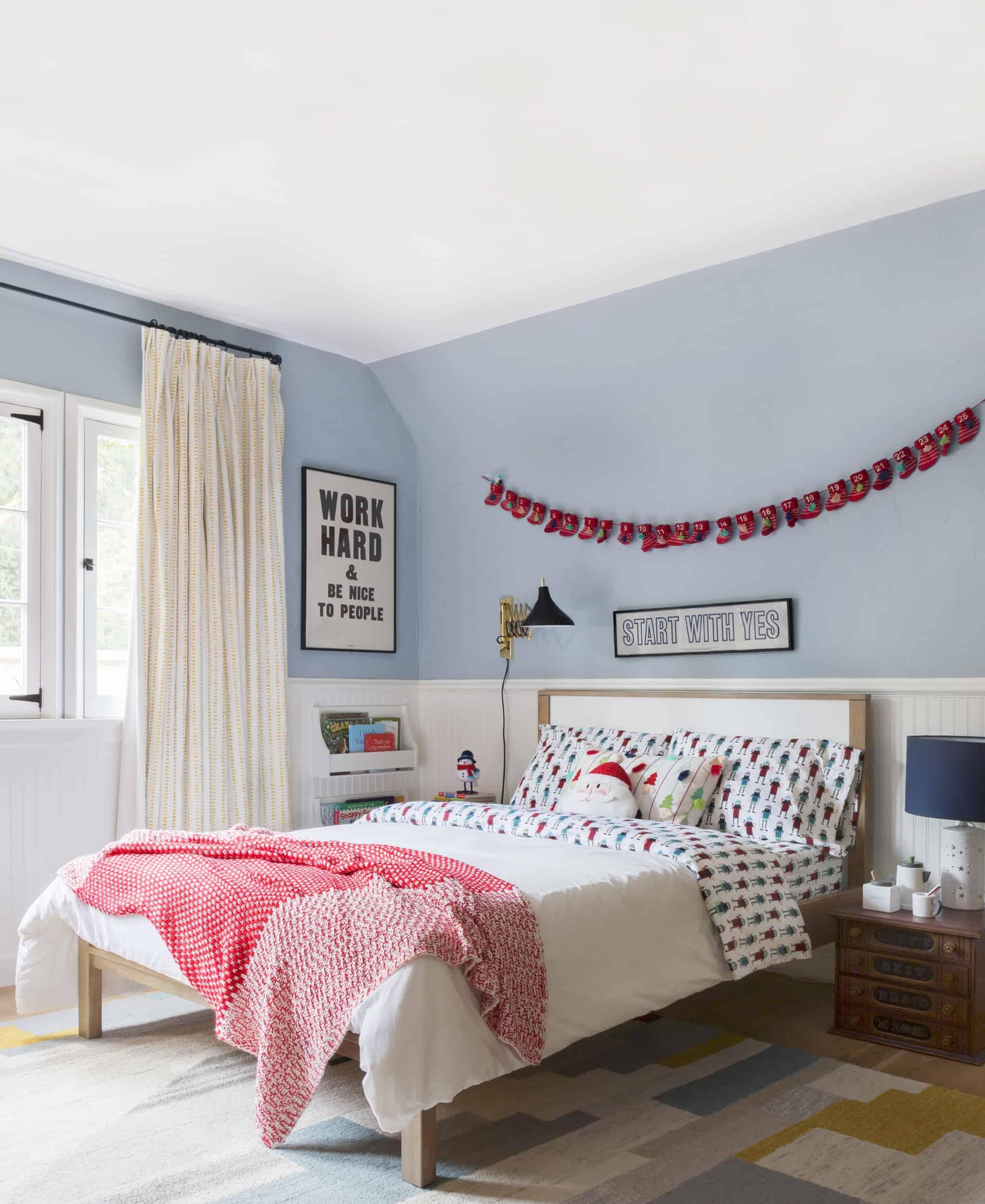 Emily Henderson Christmas Decorating Little Boys Room 31