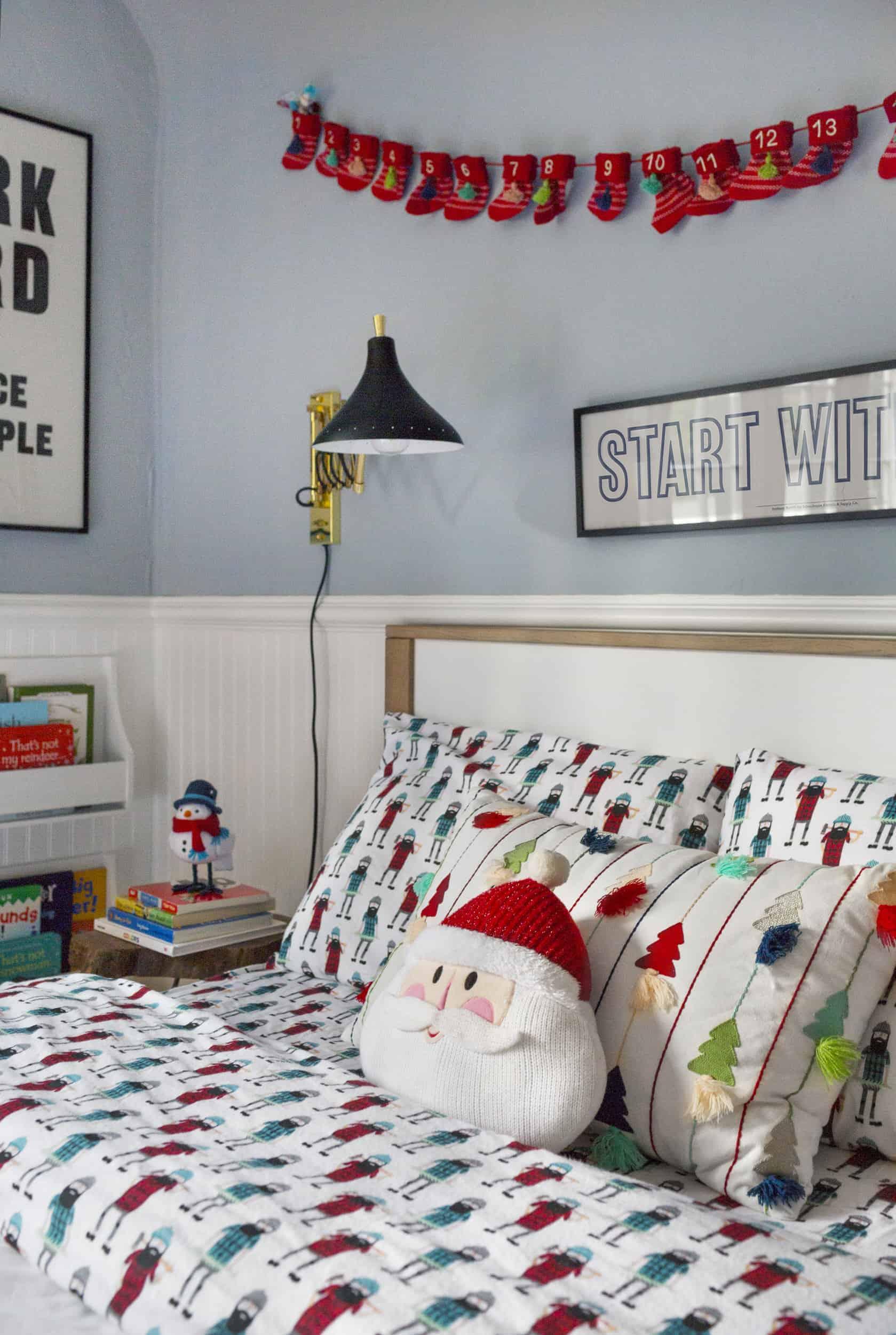 Emily Henderson Christmas Decorating Little Boys Room 91