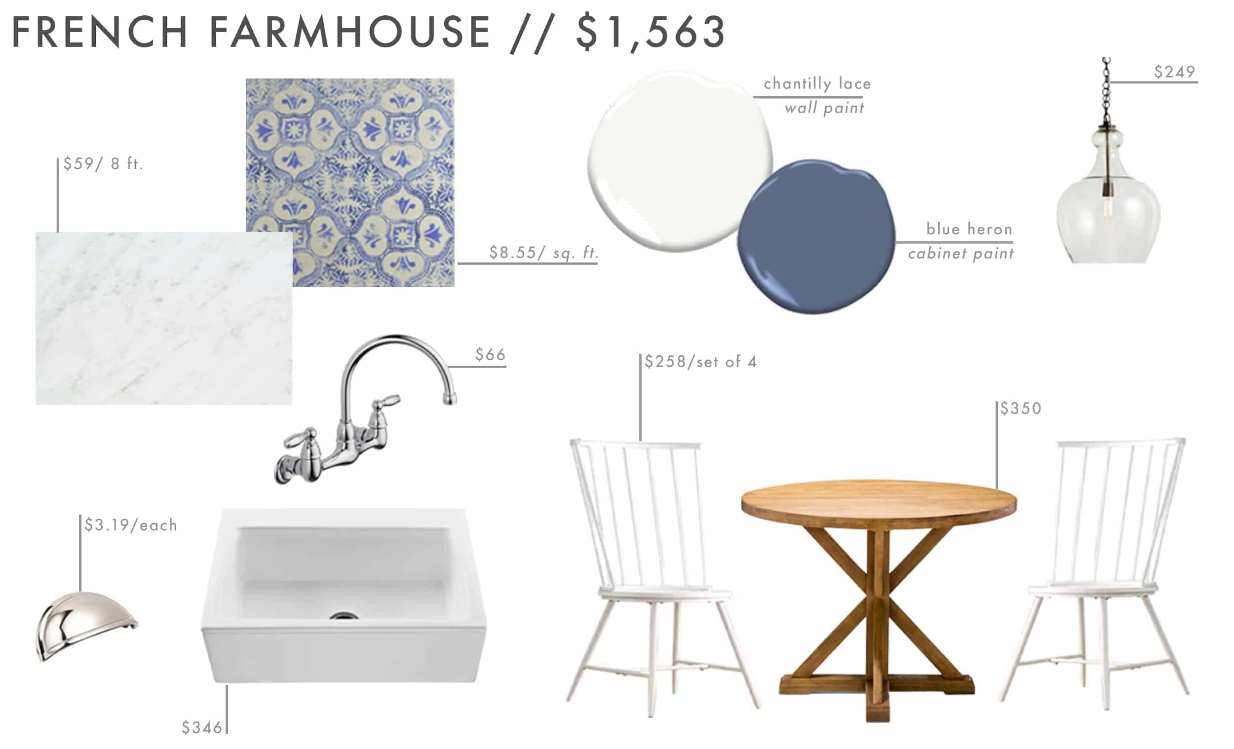 Emily Henderson Roundup Affordable Kitchen Budget Friendly Moodboard French Farmhouse