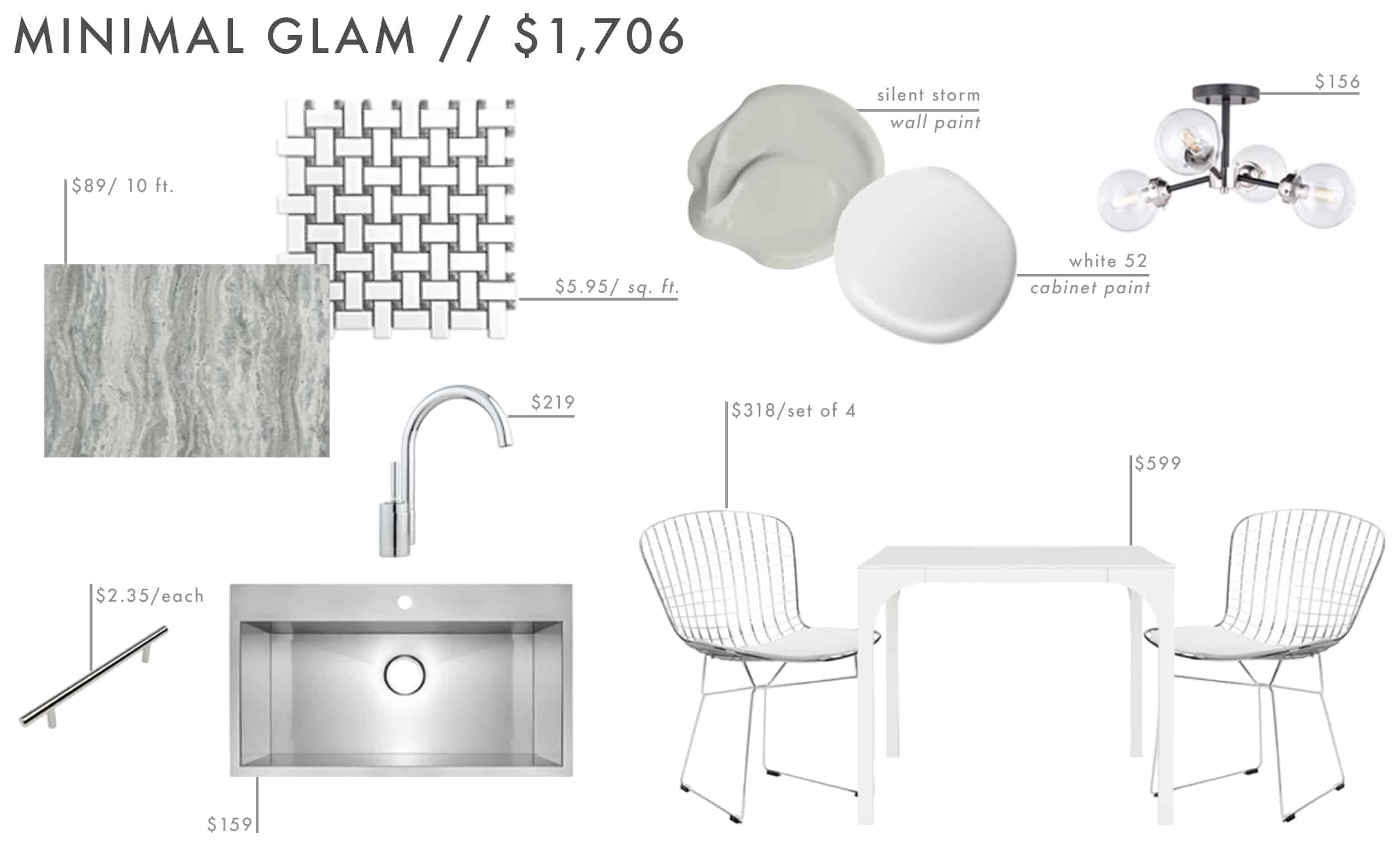 Emily Henderson Roundup Affordable Kitchen Budget Friendly Moodboard Minimal Glam