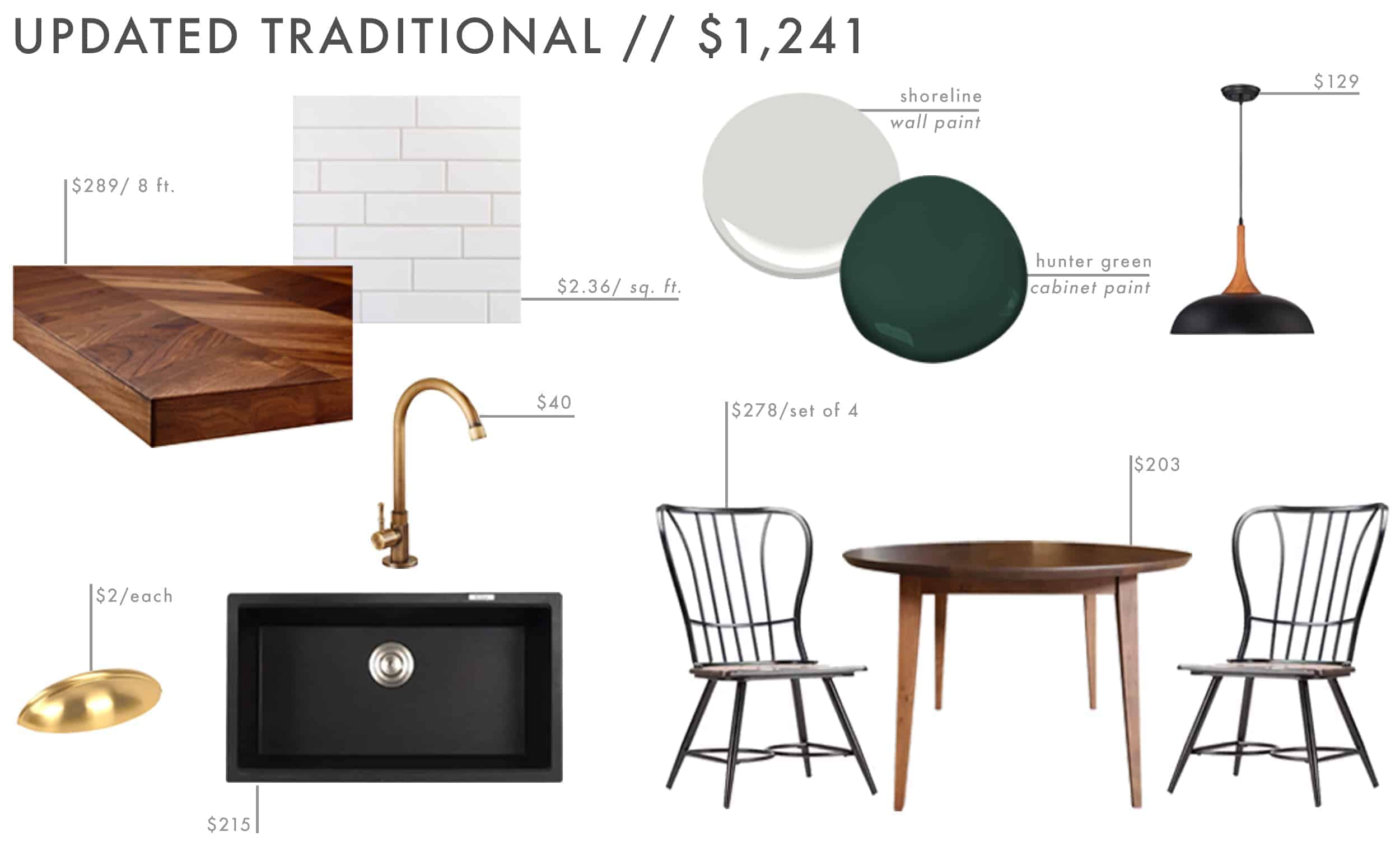 Emily Henderson Roundup Affordable Kitchen Budget Friendly Moodboard Updated Traditional1