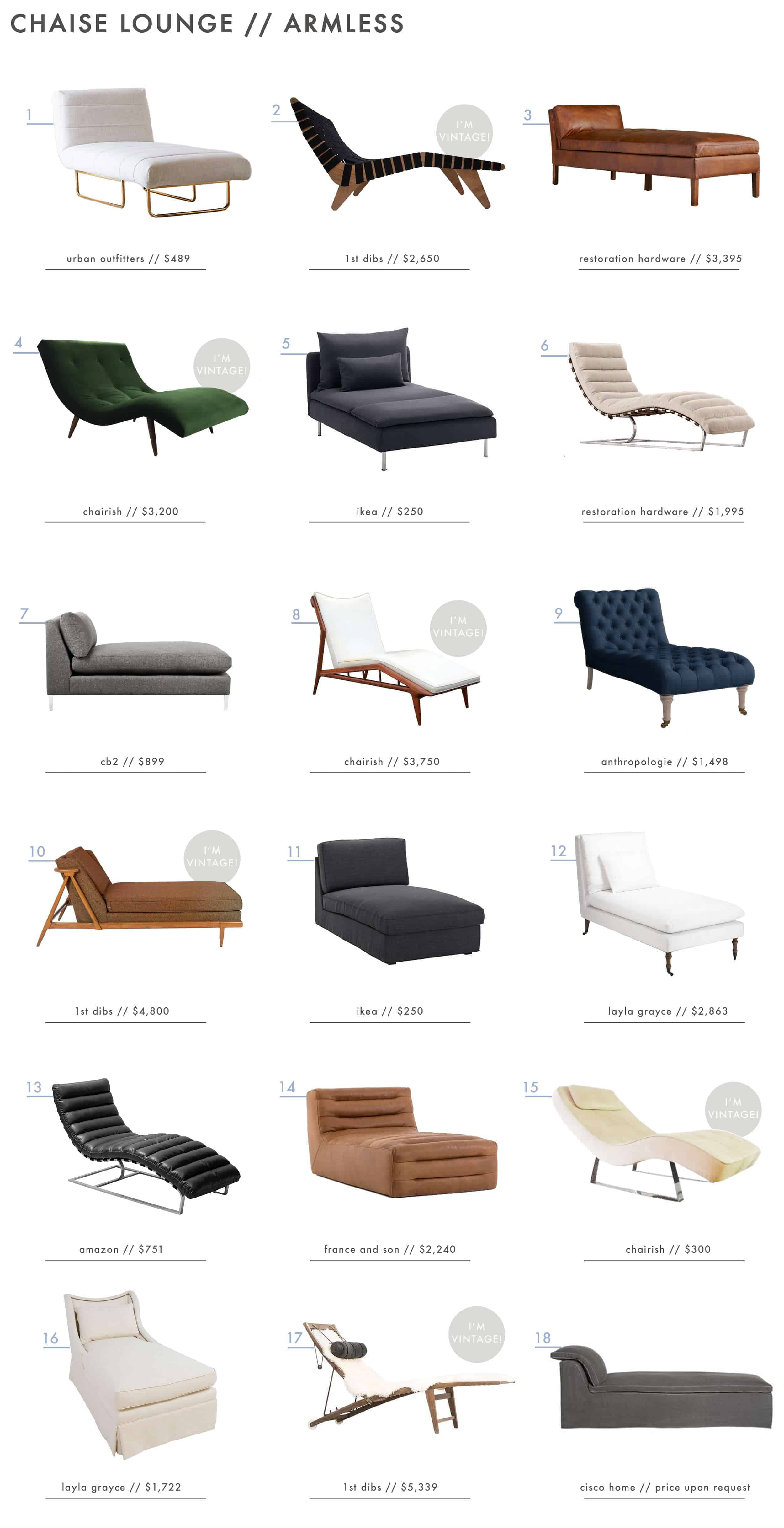 Emily Henderson Roundup Chaise Lounge Armless Final
