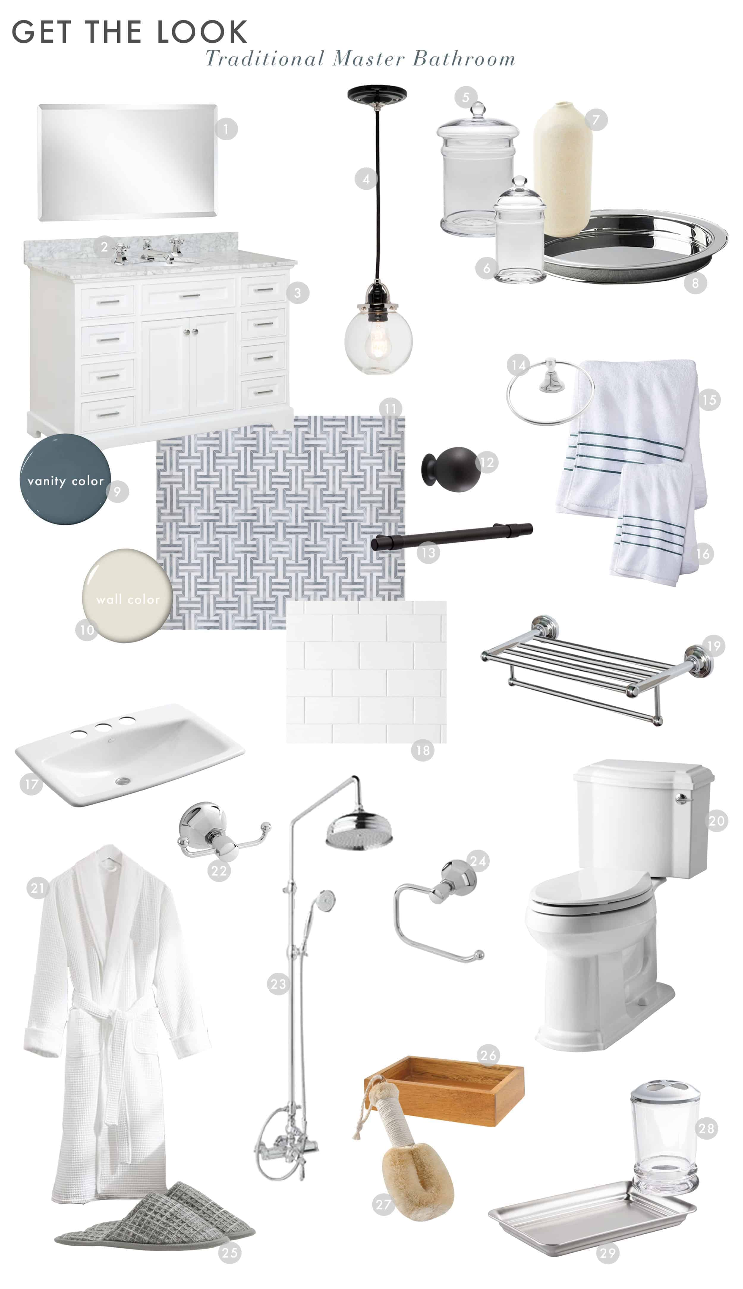 Emily Henderson Silver Lake Hills Master Bathroom Modern Traditional Reveal 1
