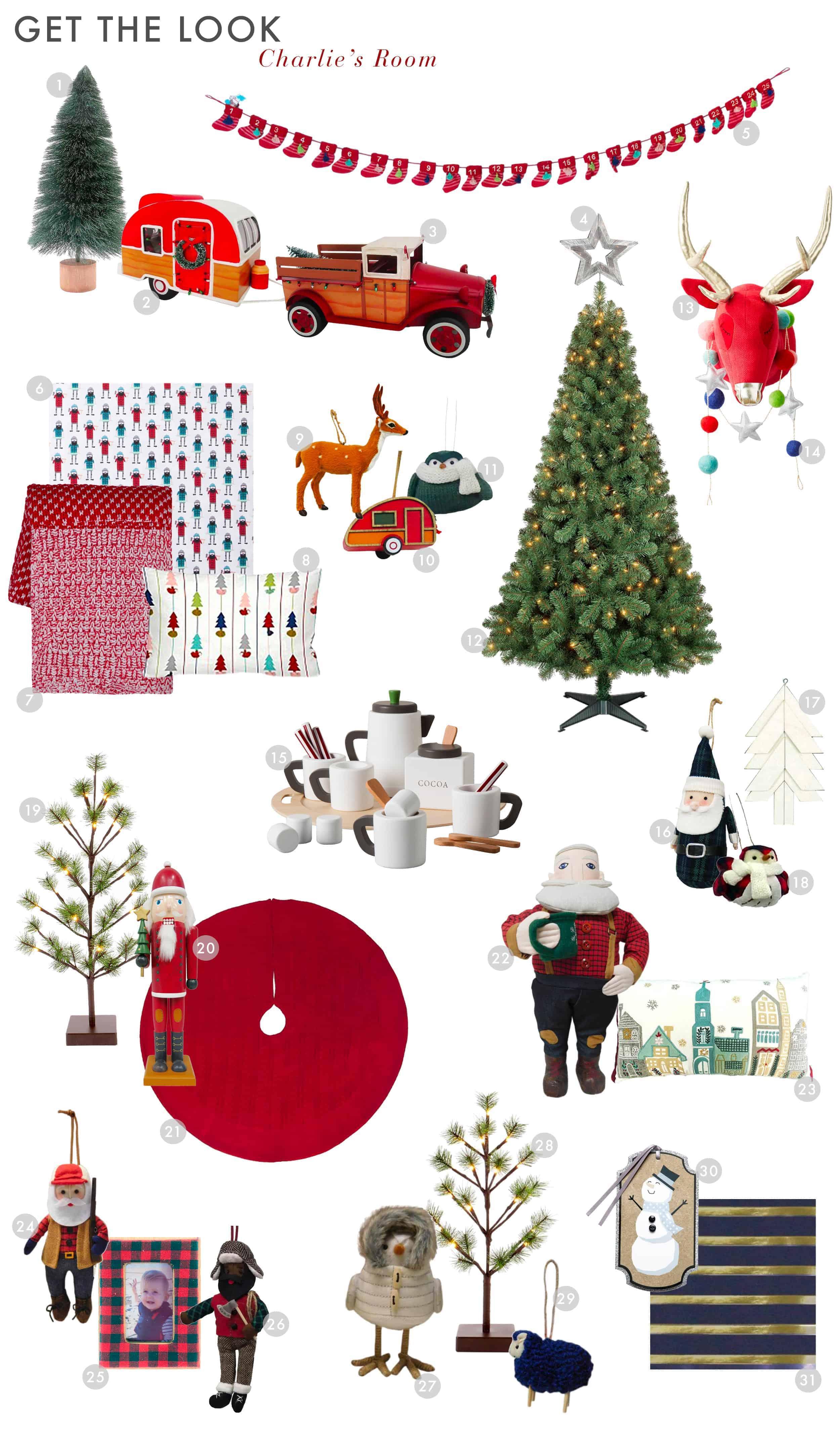 Emily Henderson Target Holiday Christmas 2017 English Tudor Modern Kids Decor Charlies Room Get The Look