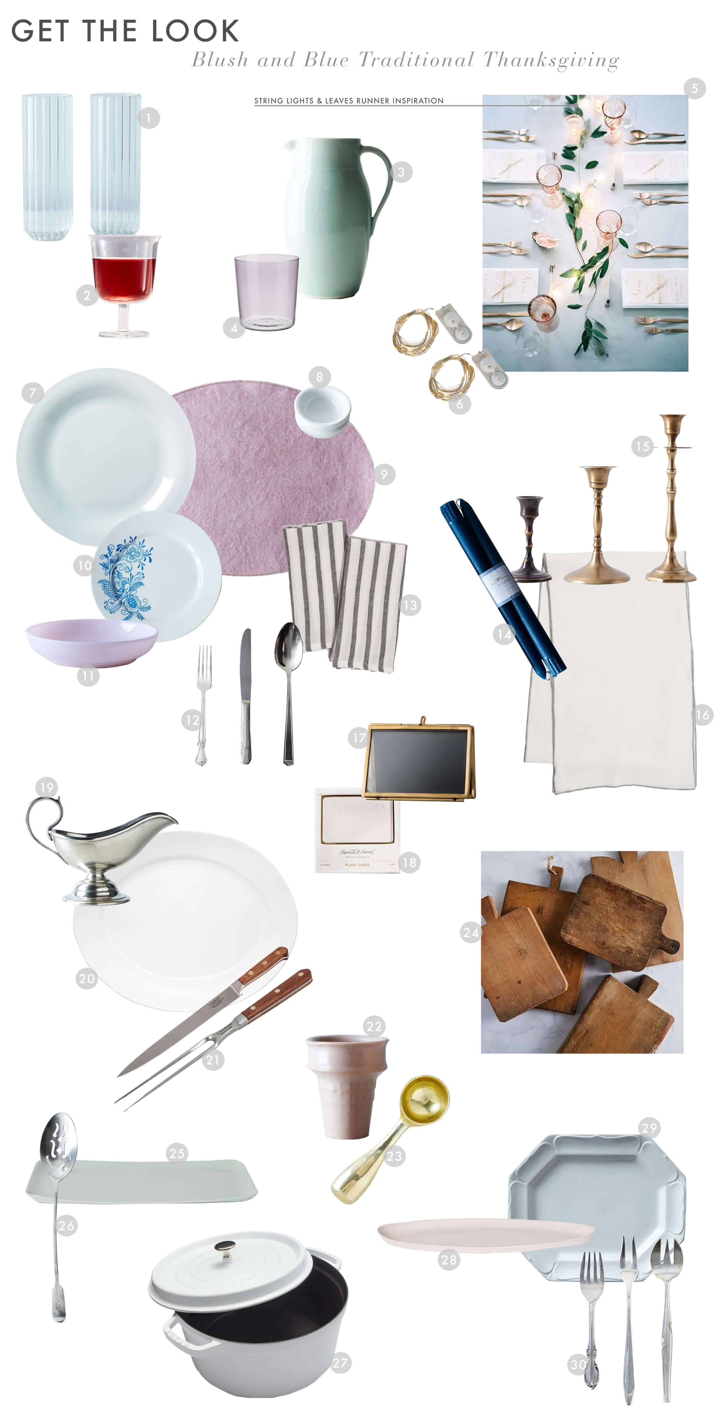 Emily Henderson Thanksgiving Friendsgiving Blue And Blush Traditional 1