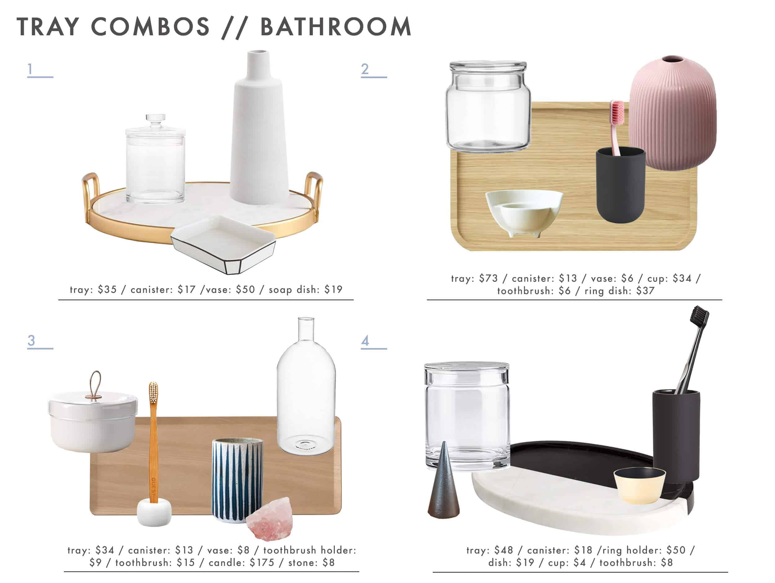 Emily Henderson Tray Combos Roundup Bathroom 1