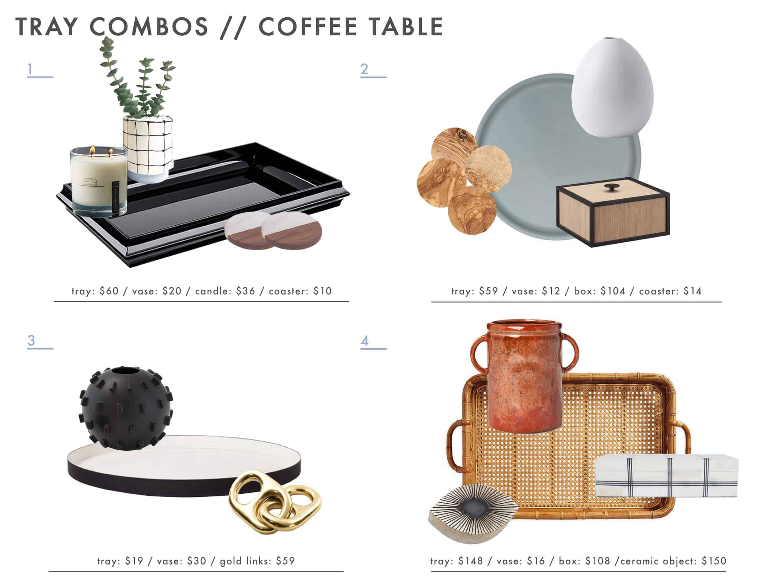 Emily Henderson Tray Combos Roundup Coffee Table 01
