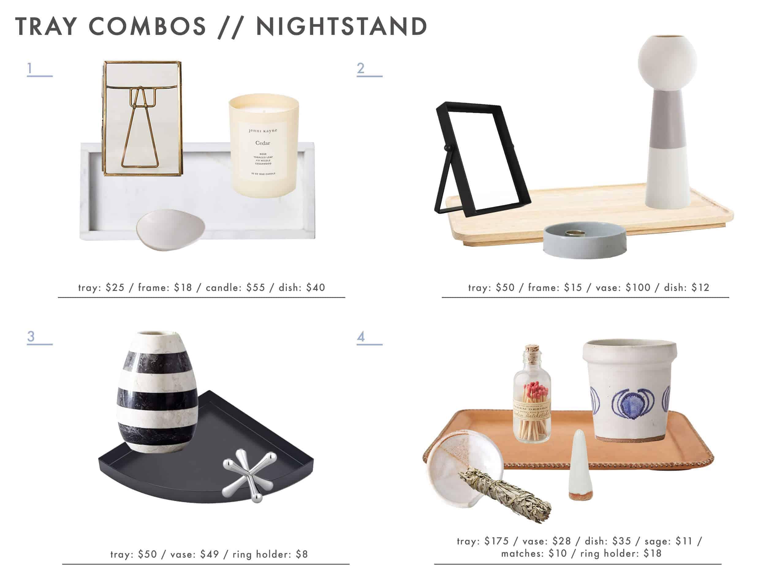 Emily Henderson Tray Combos Roundup Nightstand 1
