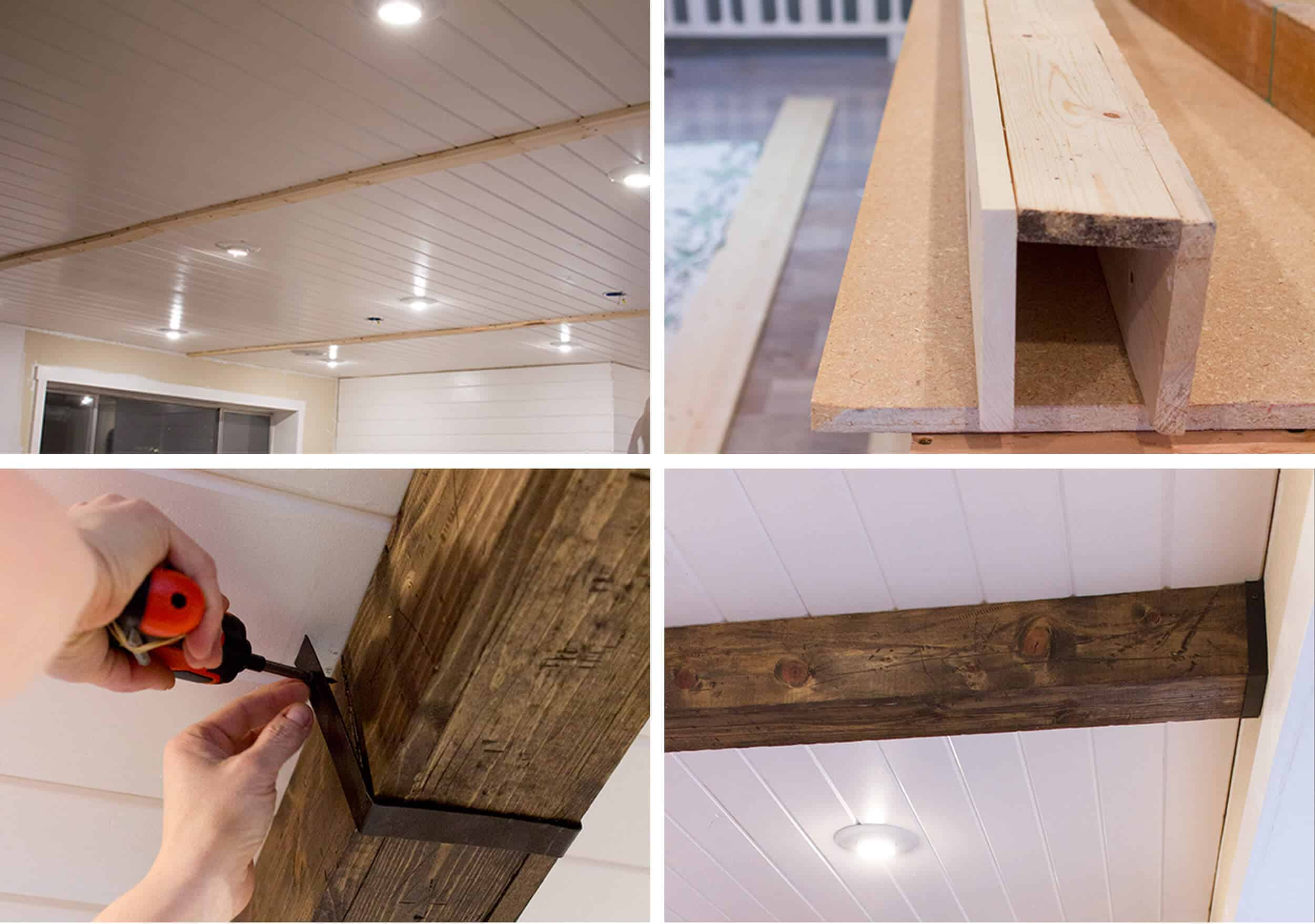 How To Add Character And Charm To Boring Architecture And Houses Ceiling Beams And Paneling Diy