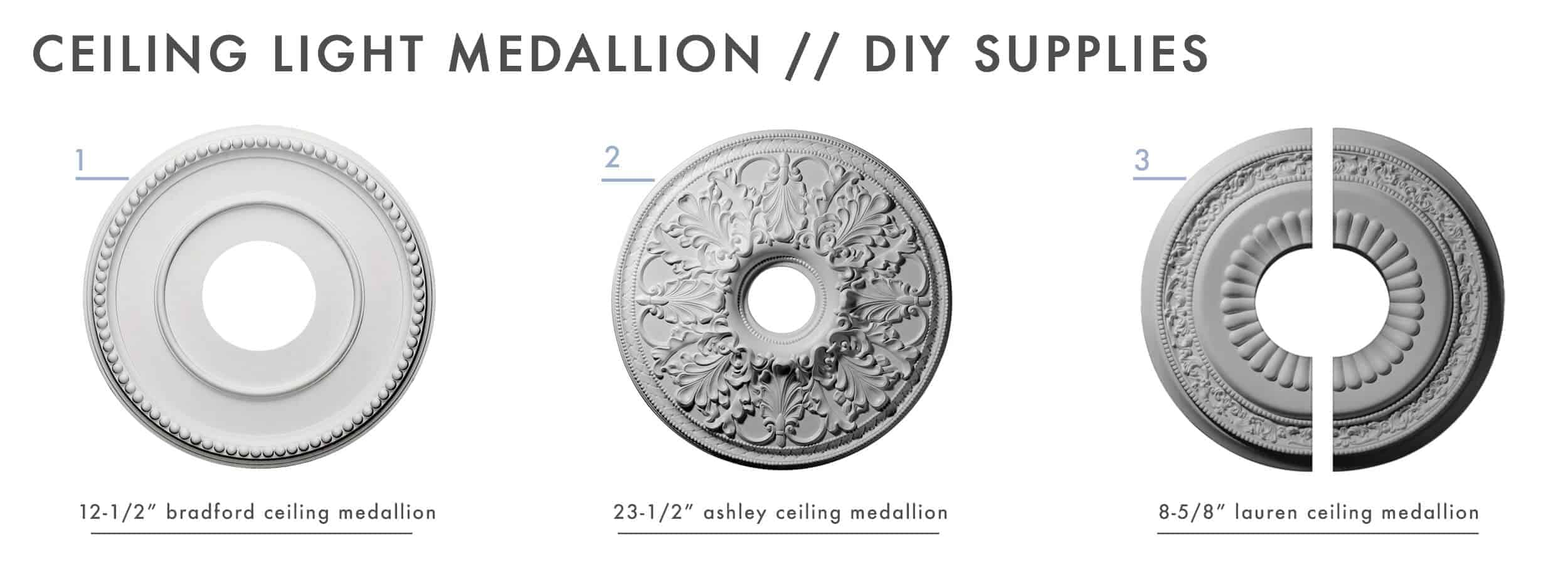 How To Add Character And Charm To Boring Architecture And Houses Ceiling Medallion Diy Supplies 01