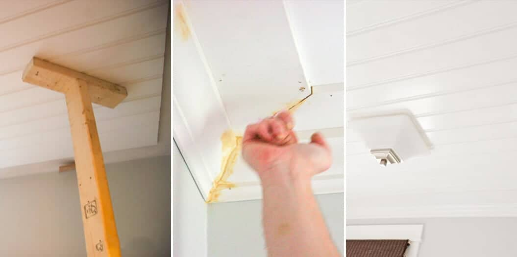 How To Add Character And Charm To Boring Architecture And Houses Half Ceiling Paneling Beadboard Paneling Diy