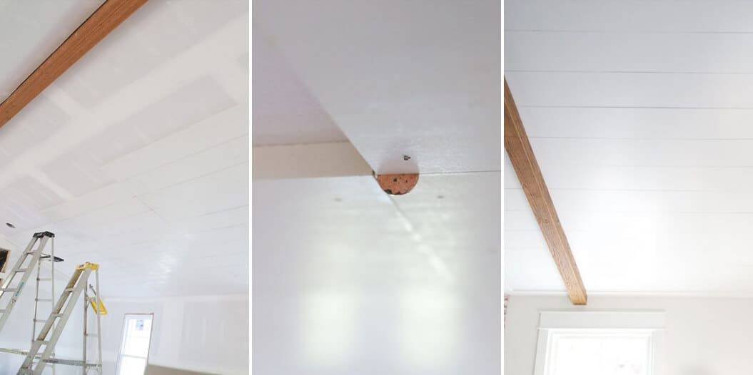 How To Add Character And Charm To Boring Architecture And Houses Half Ceiling Paneling Painted Wood Paneling Diy