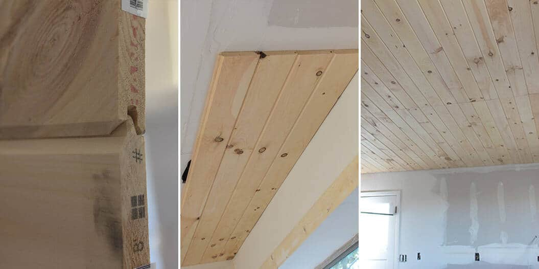 How To Add Character And Charm To Boring Architecture And Houses Half Ceiling Paneling V Groove Paneling Diy