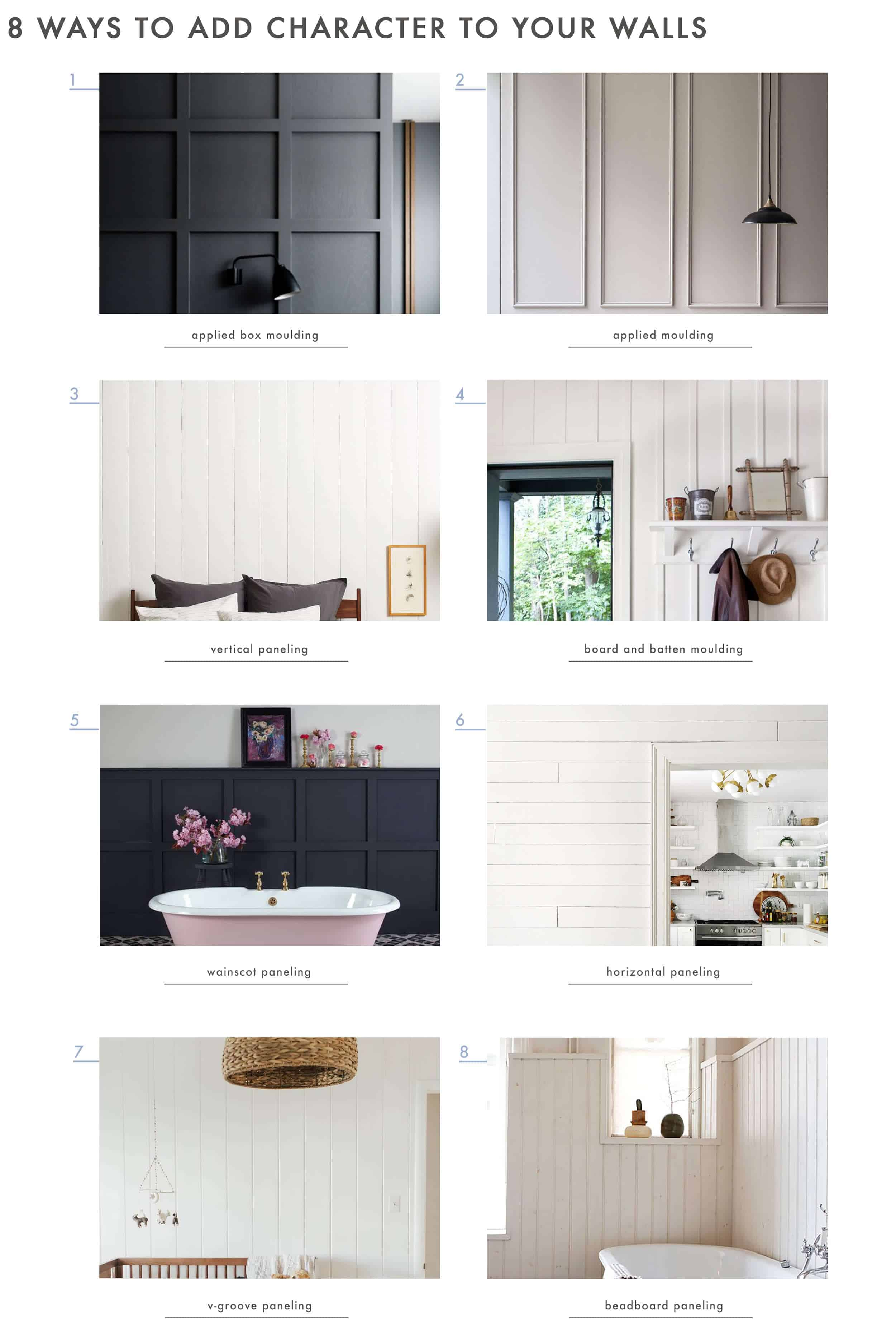 How To Add Character And Charm To Boring Architecture And Houses Wall Treatment 8ways