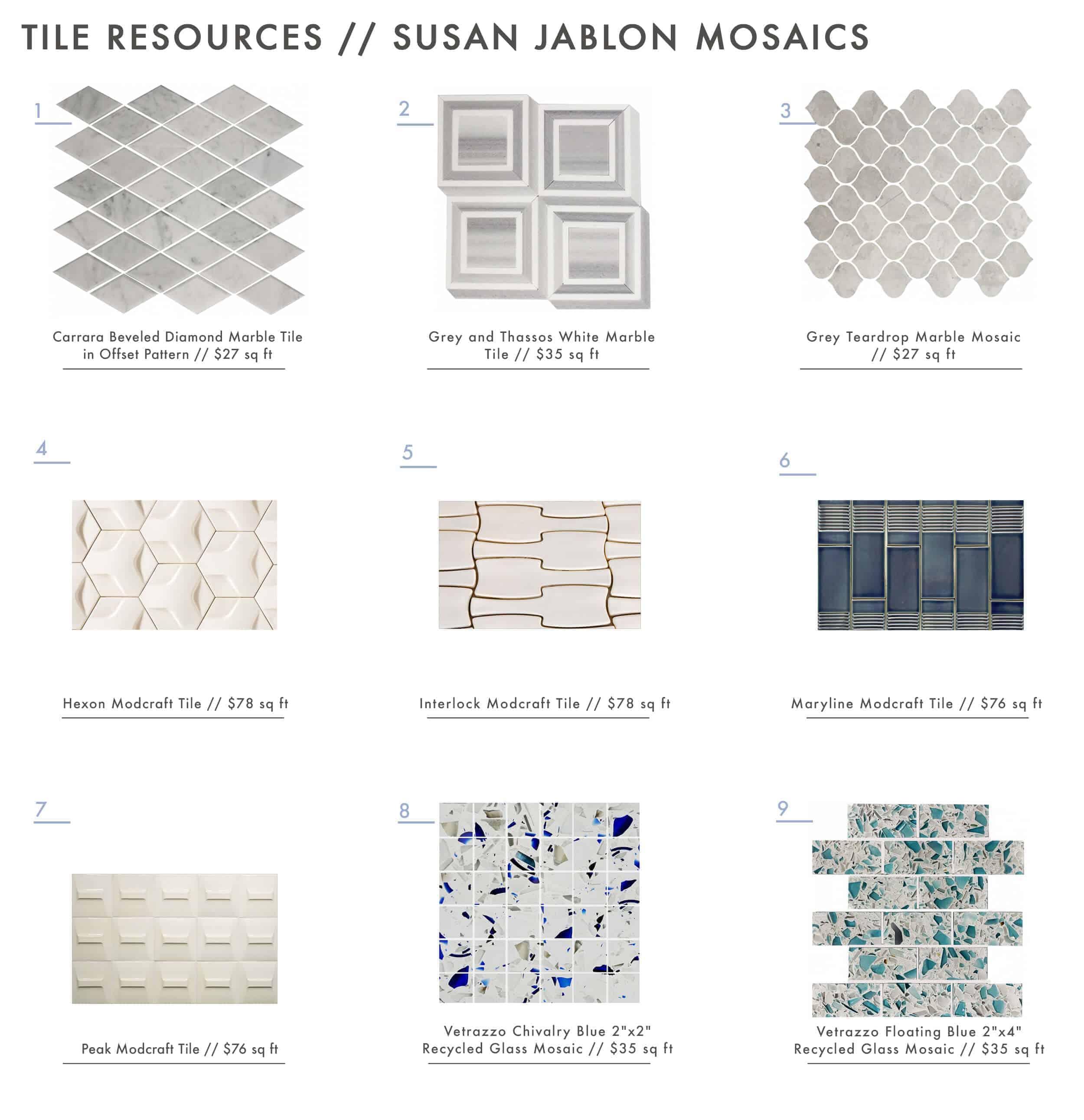Susan Jablon Mosaics Roundup