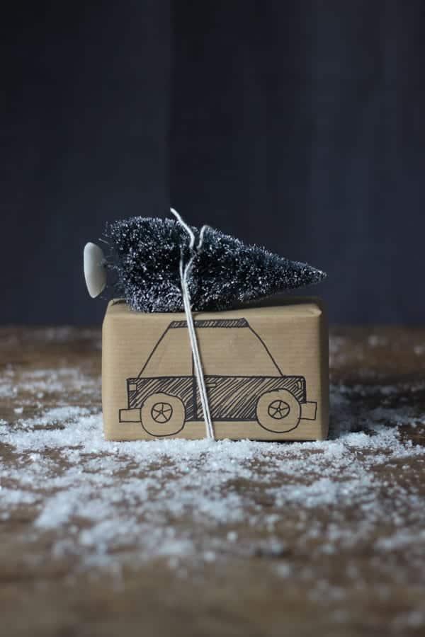 Christmas Tree Car Present