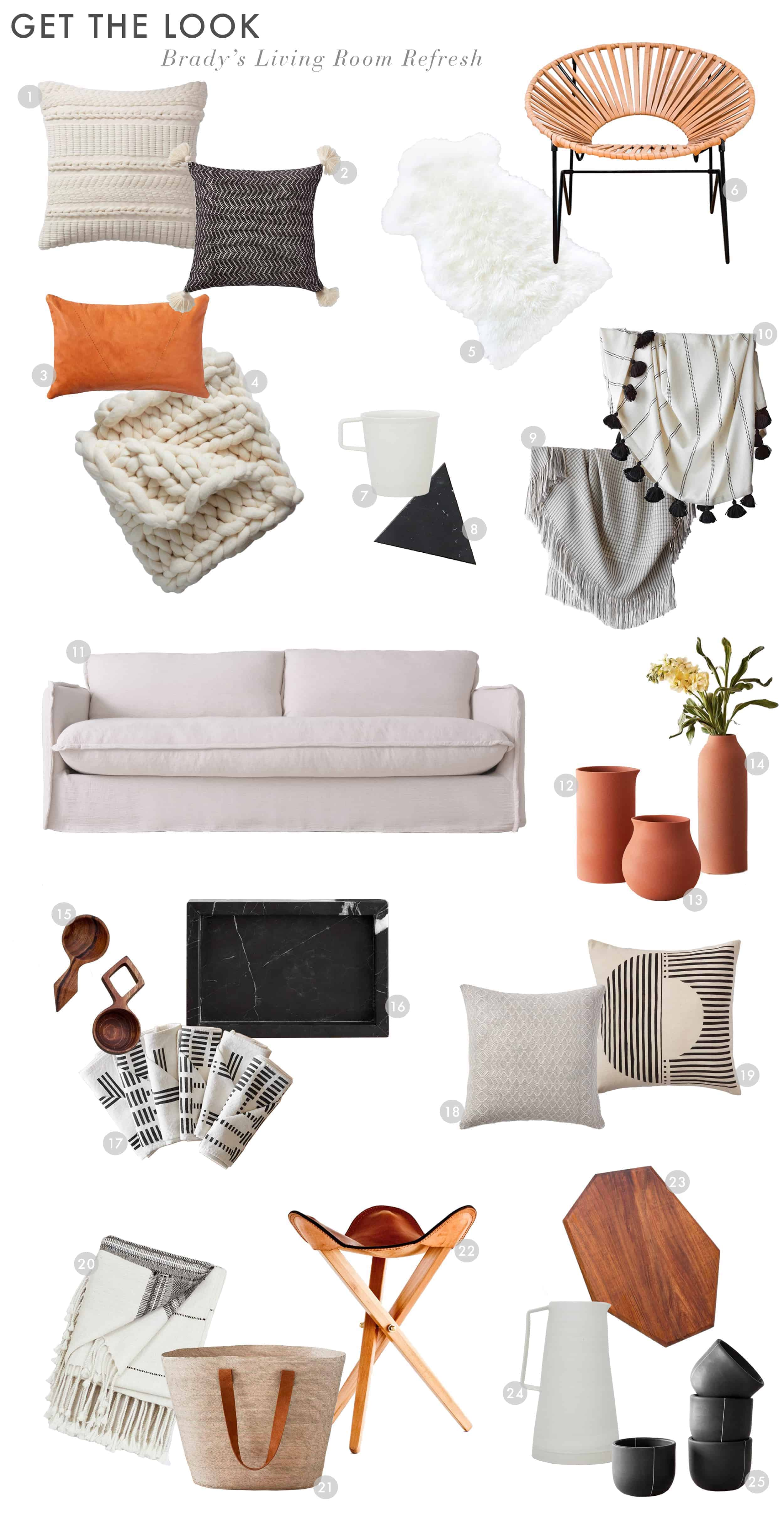 Emily Henderson Citizenry Bradys Apartment Living Room Refresh Get The Look