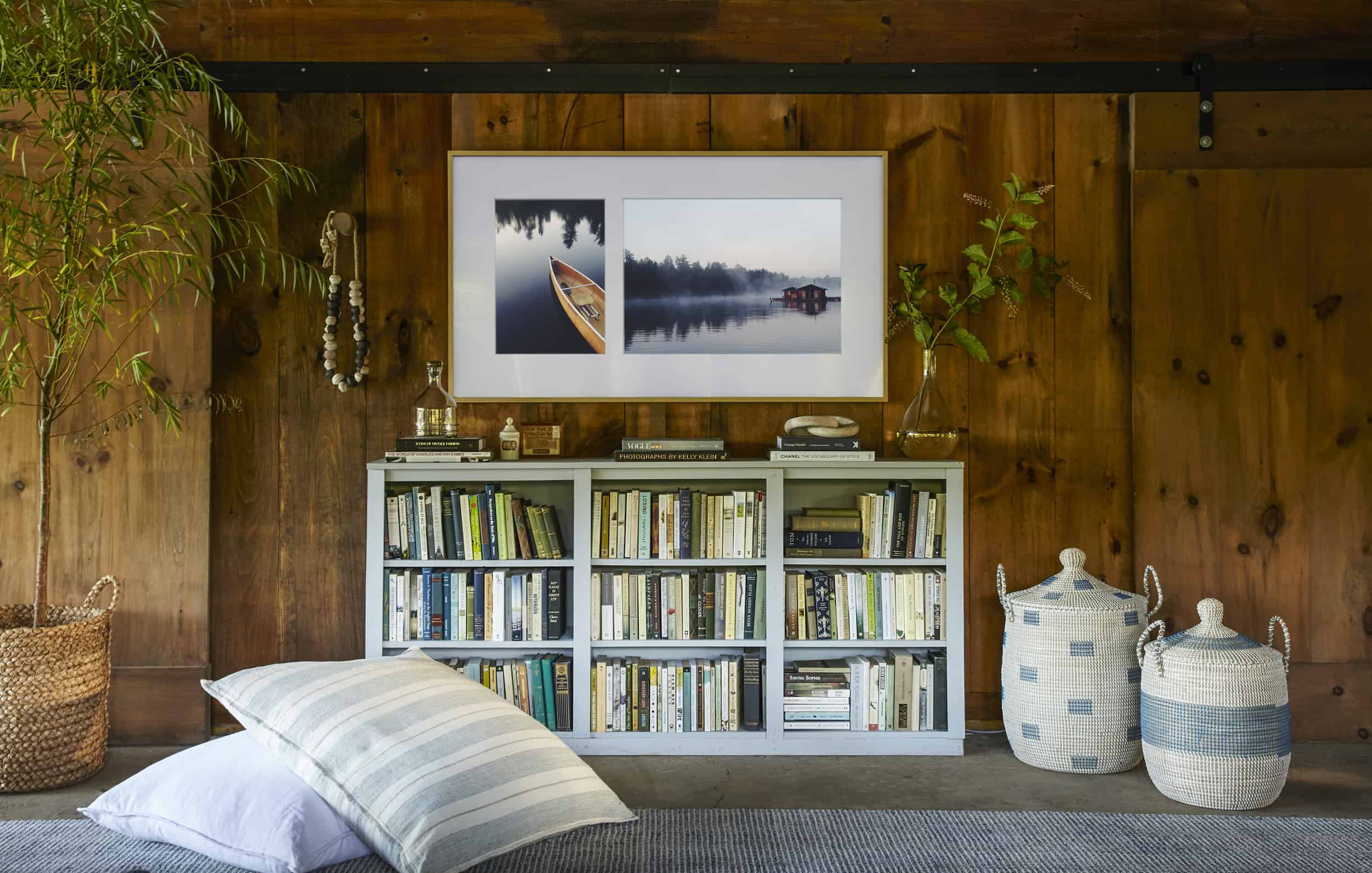 Emily Henderson Samsung The Frame Boathouse Renovation Makeover Lake House Country Rustic 2