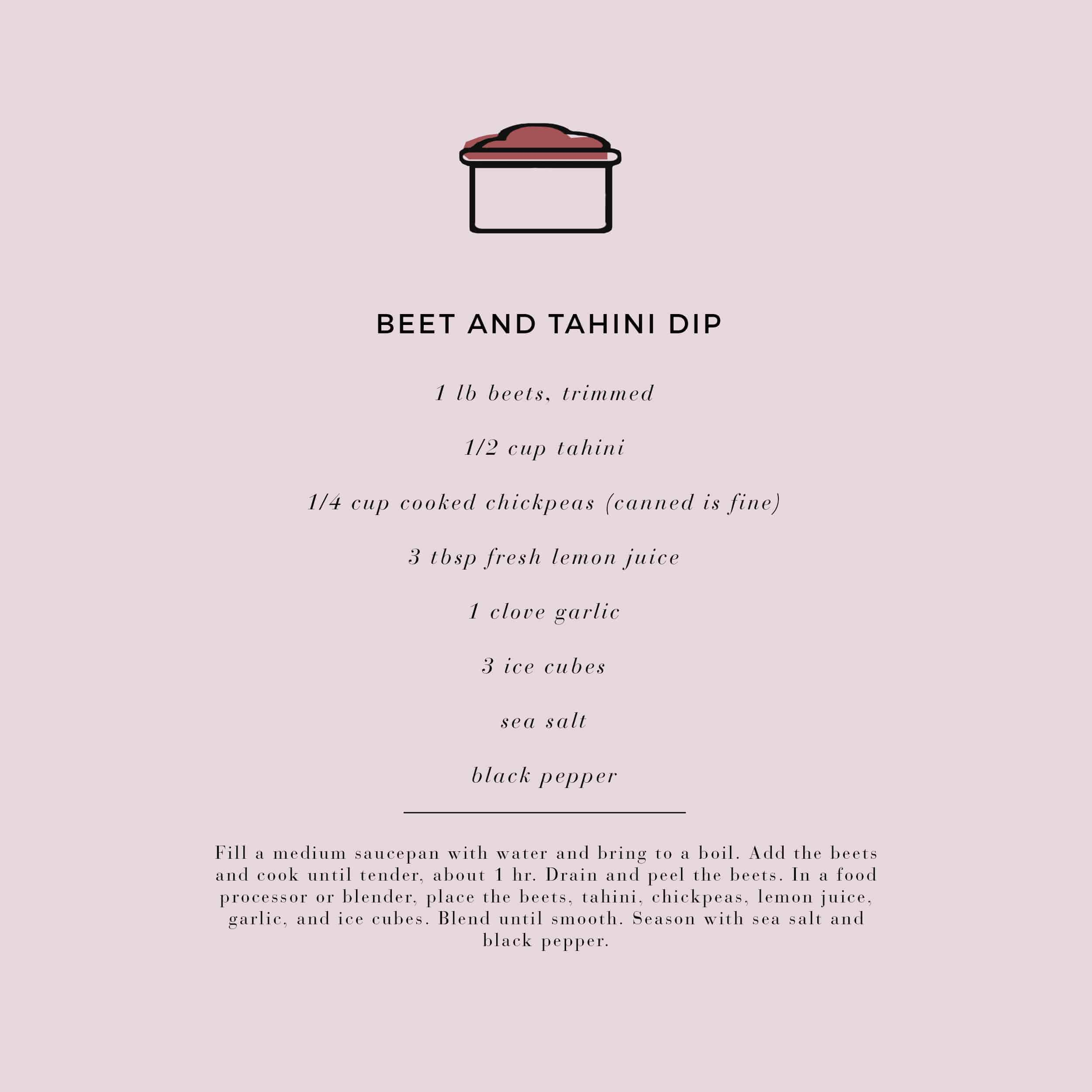 Emily Henderson Waverly Modern English Tudor Holiday Gathering Party Patio Recipe Beet Dip Recipe Card 01