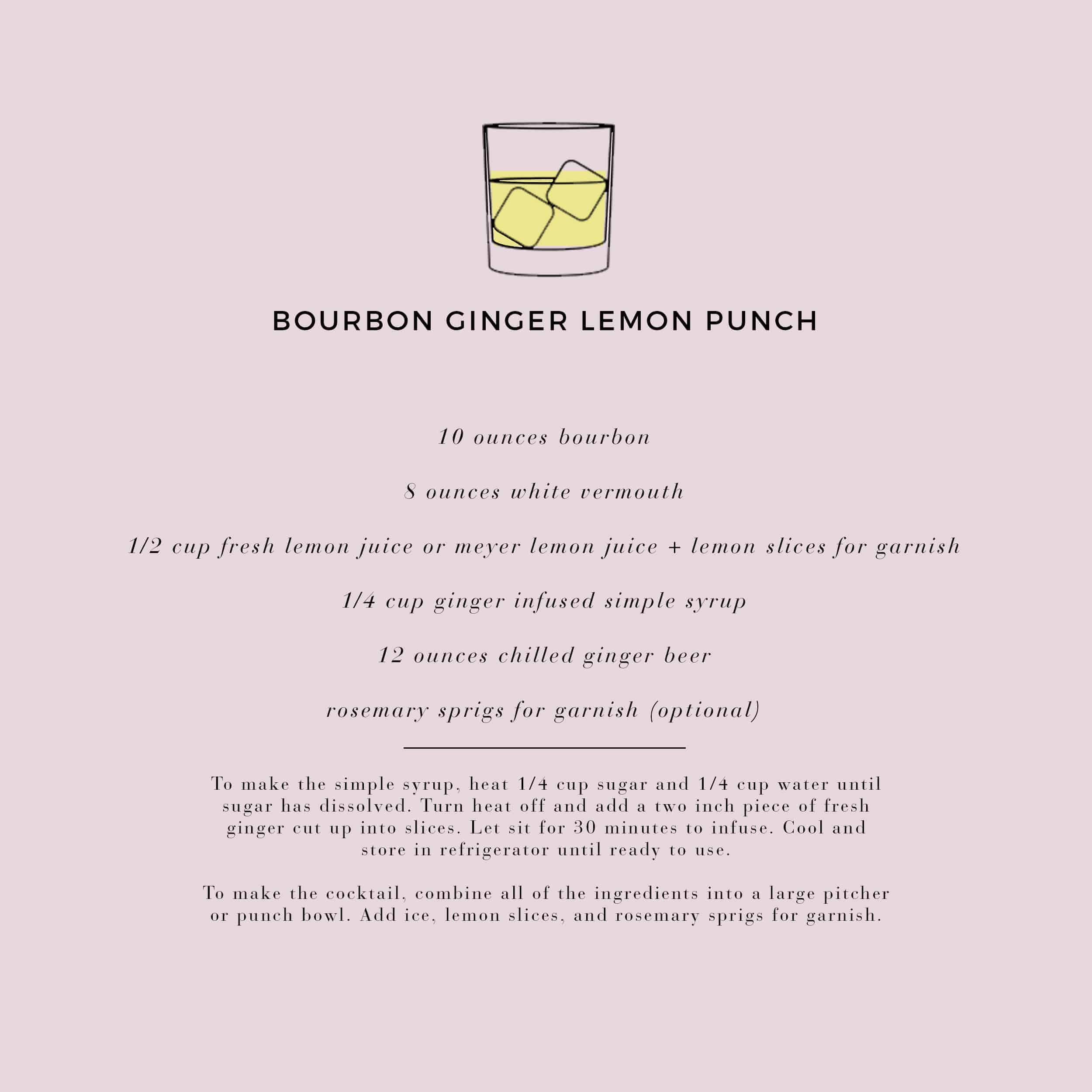 Emily Henderson Waverly Modern English Tudor Holiday Gathering Party Patio Recipe Bourbon Ginger Lemon Punch Recipe Card2