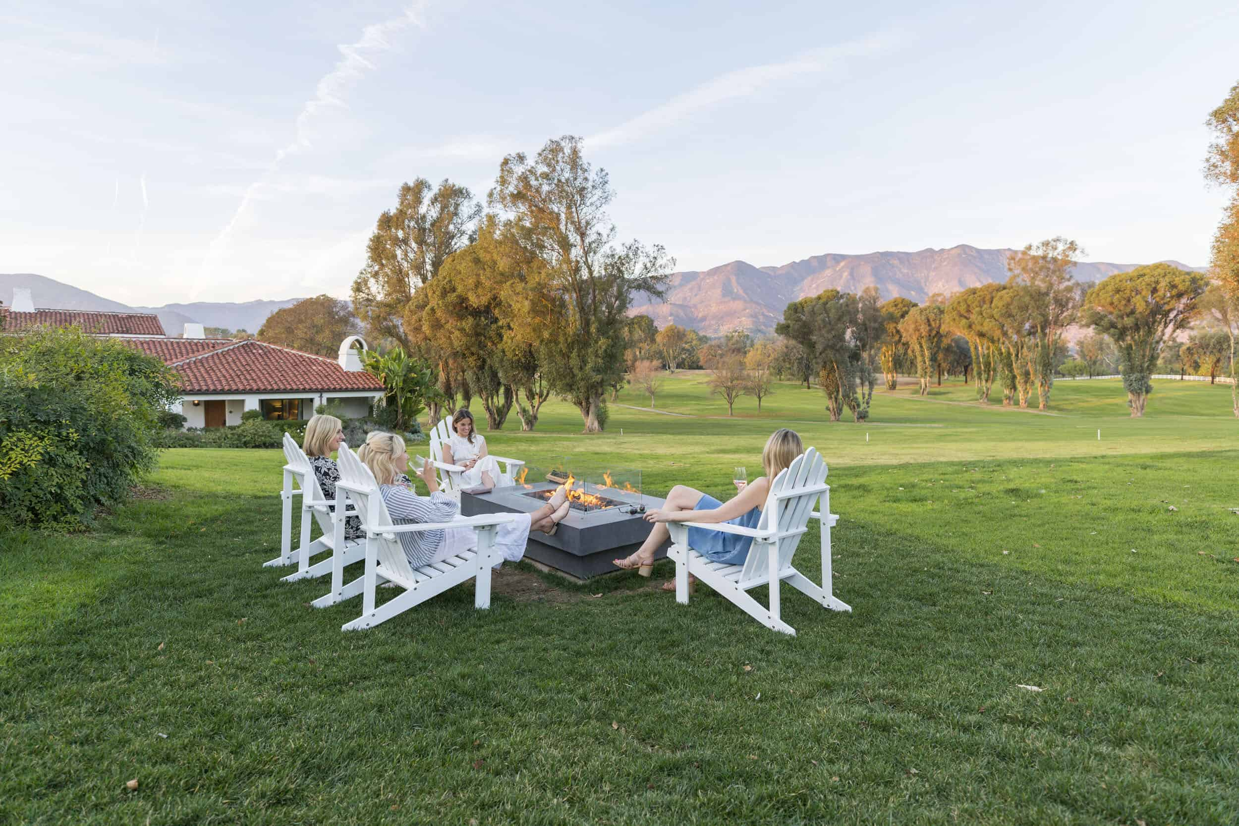 Fire Pit On The Golf Course Ojai Valley Inn