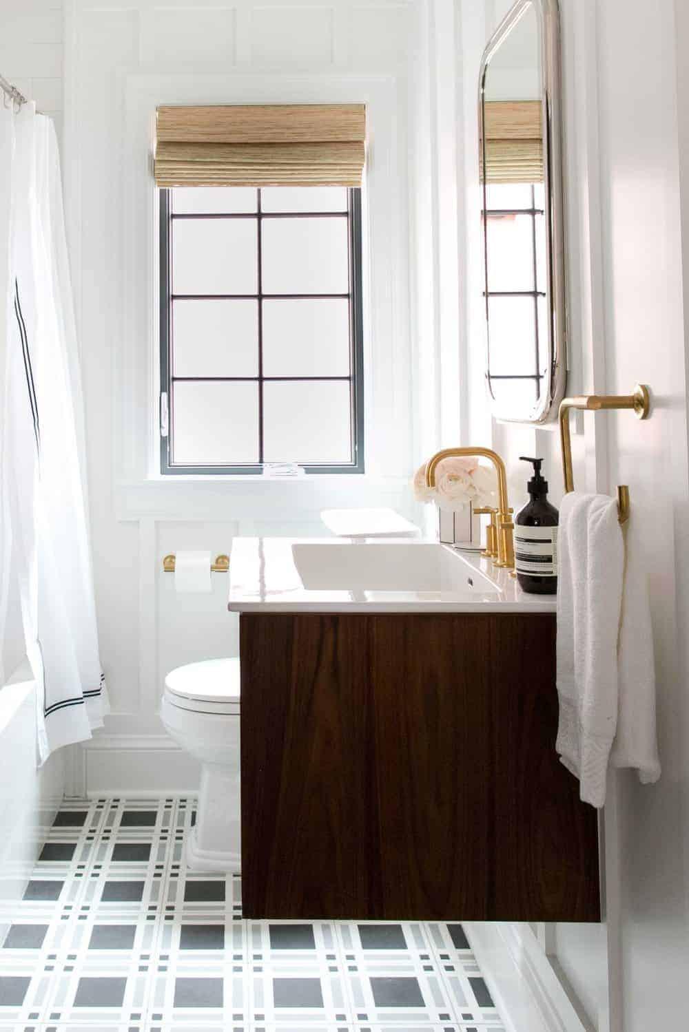 Emily Henderson Design Trends 2018 Bathroom Floating Vanity 07